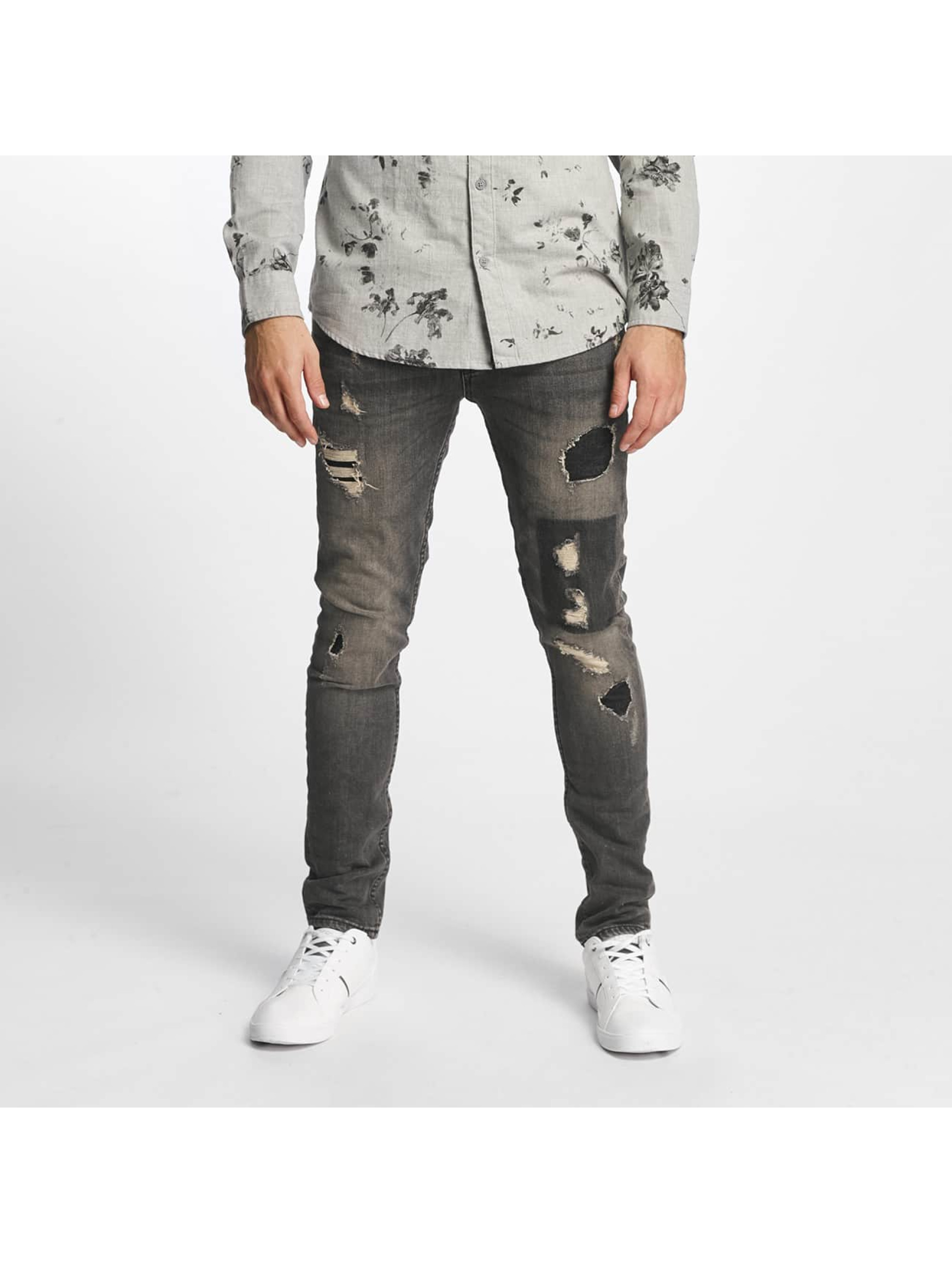 Only & Sons Straight Fit Jeans onsLoom Destroy Patch gray