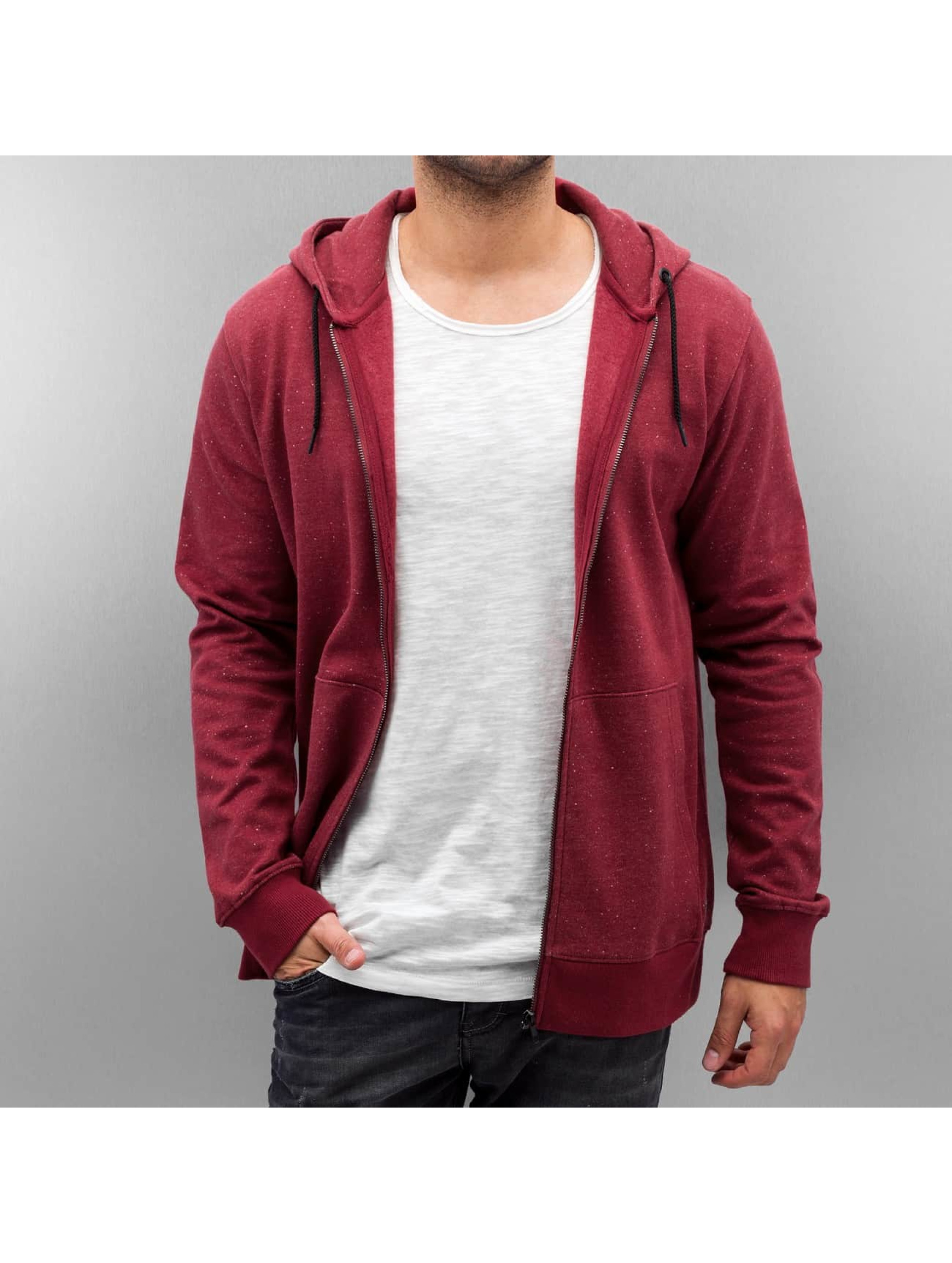 Only & Sons Zip Hoodie onsFiske red