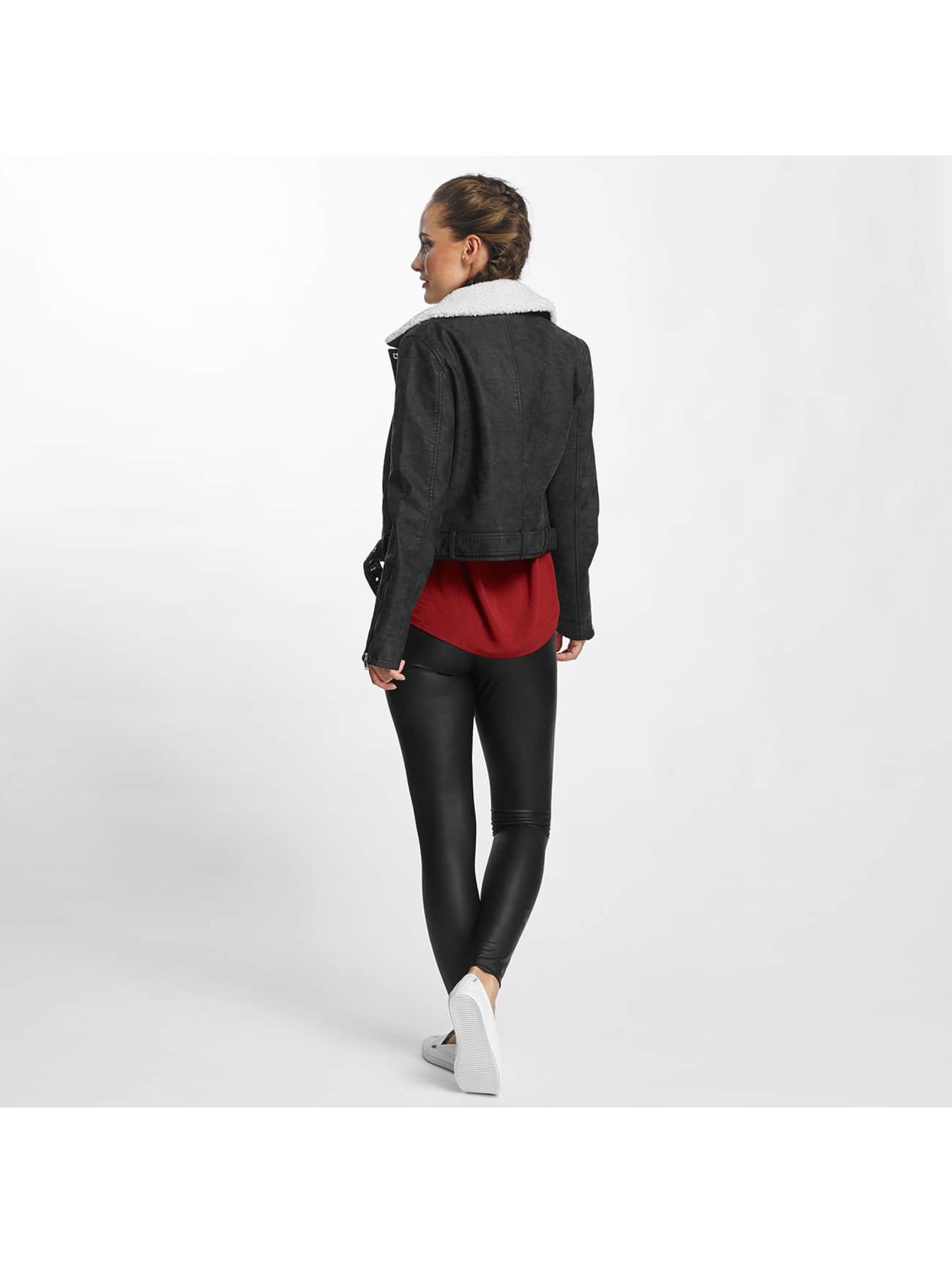 Only Leather Jacket onlDanielle Faux Leather Biker black
