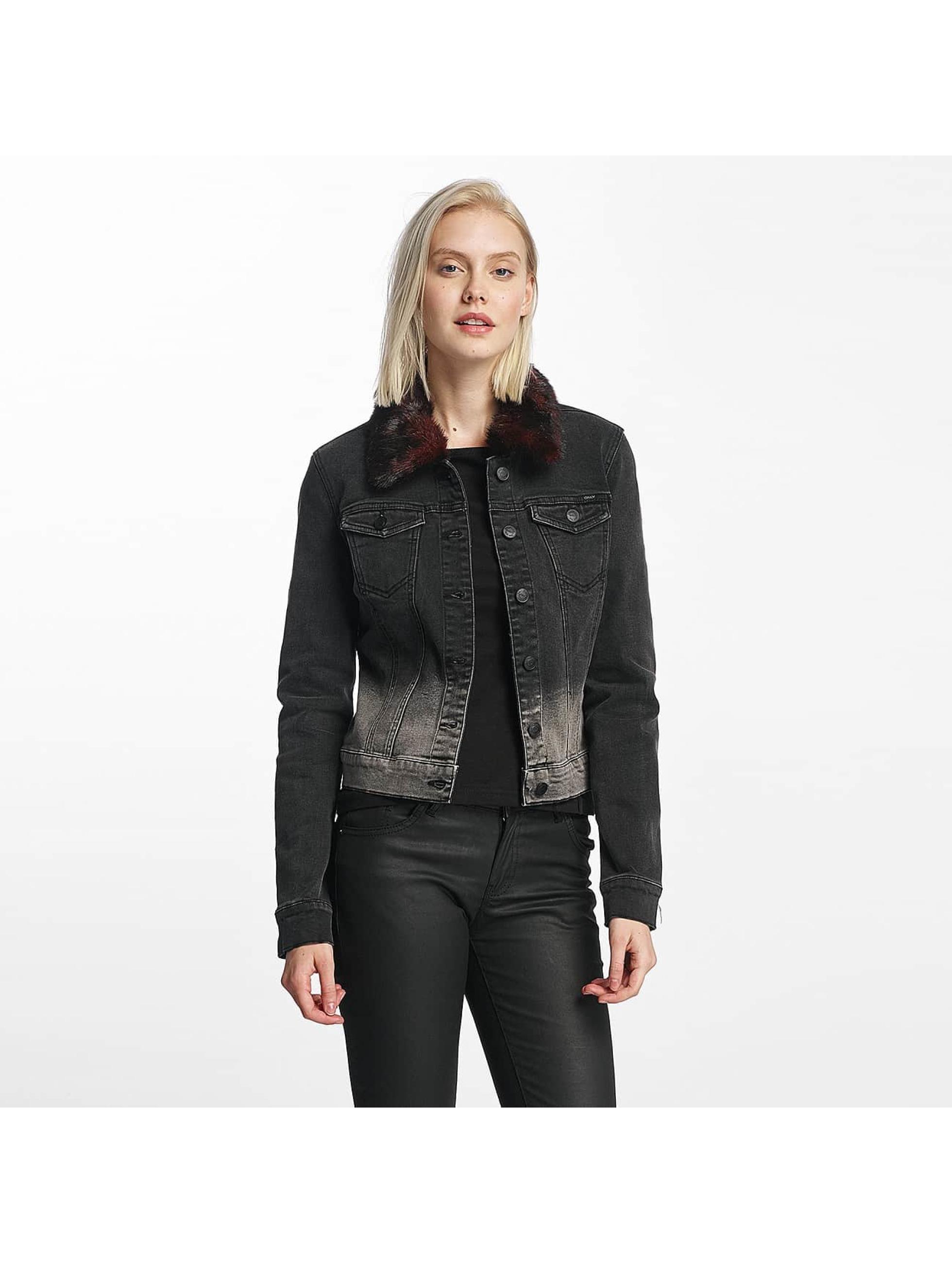 Only Lightweight Jacket onlChris Fur Collar Denim black