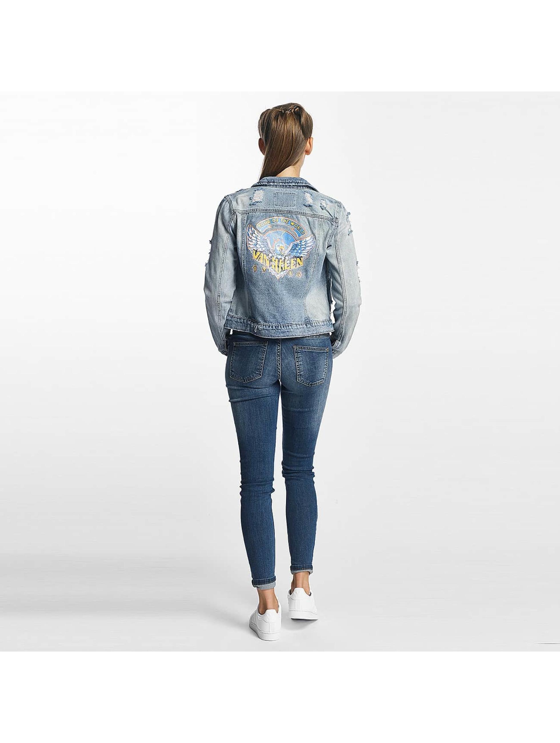 Only Lightweight Jacket onlChris Print Denim blue