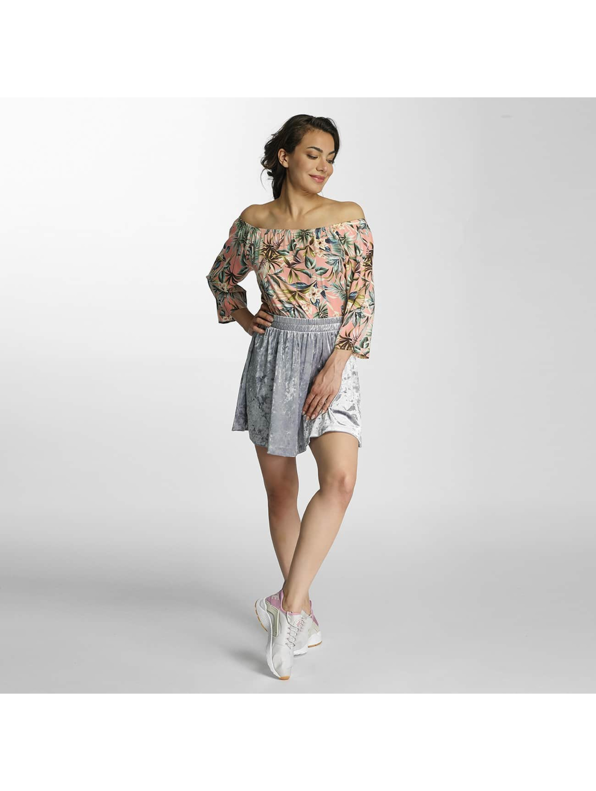 Only Skirt onlPunti Velour Skater silver