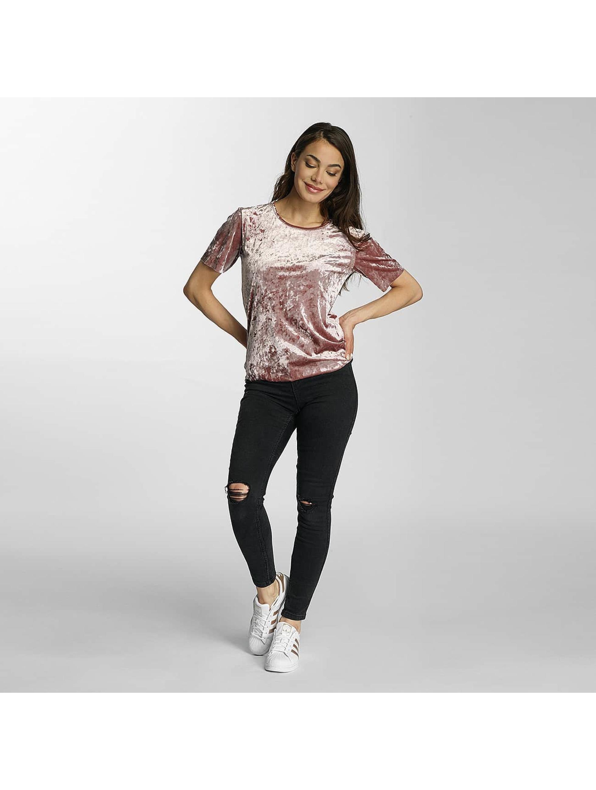Only T-Shirt onlPunti Velour rose