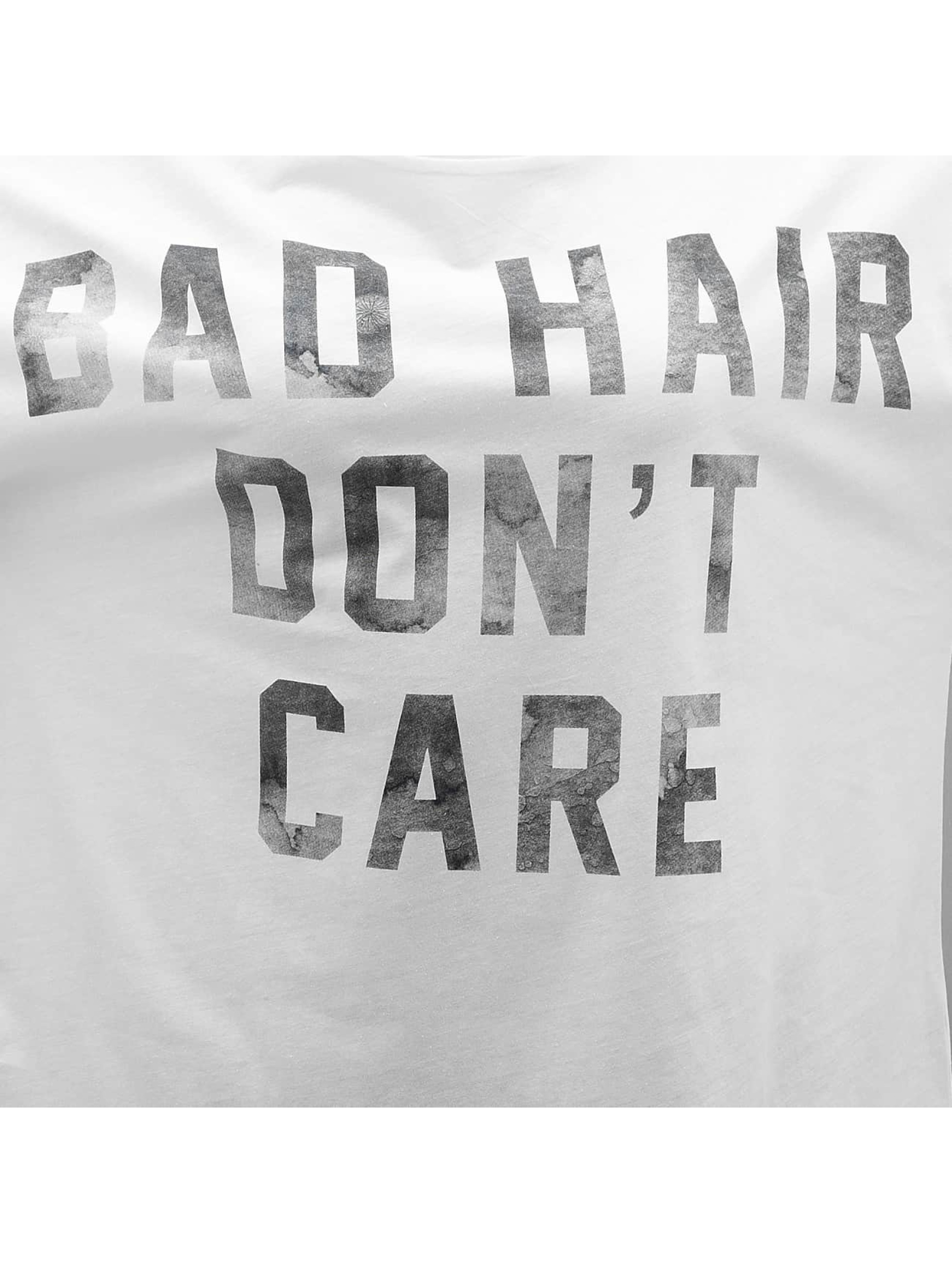 Only T-Shirt onlBad Hair Dont Care white
