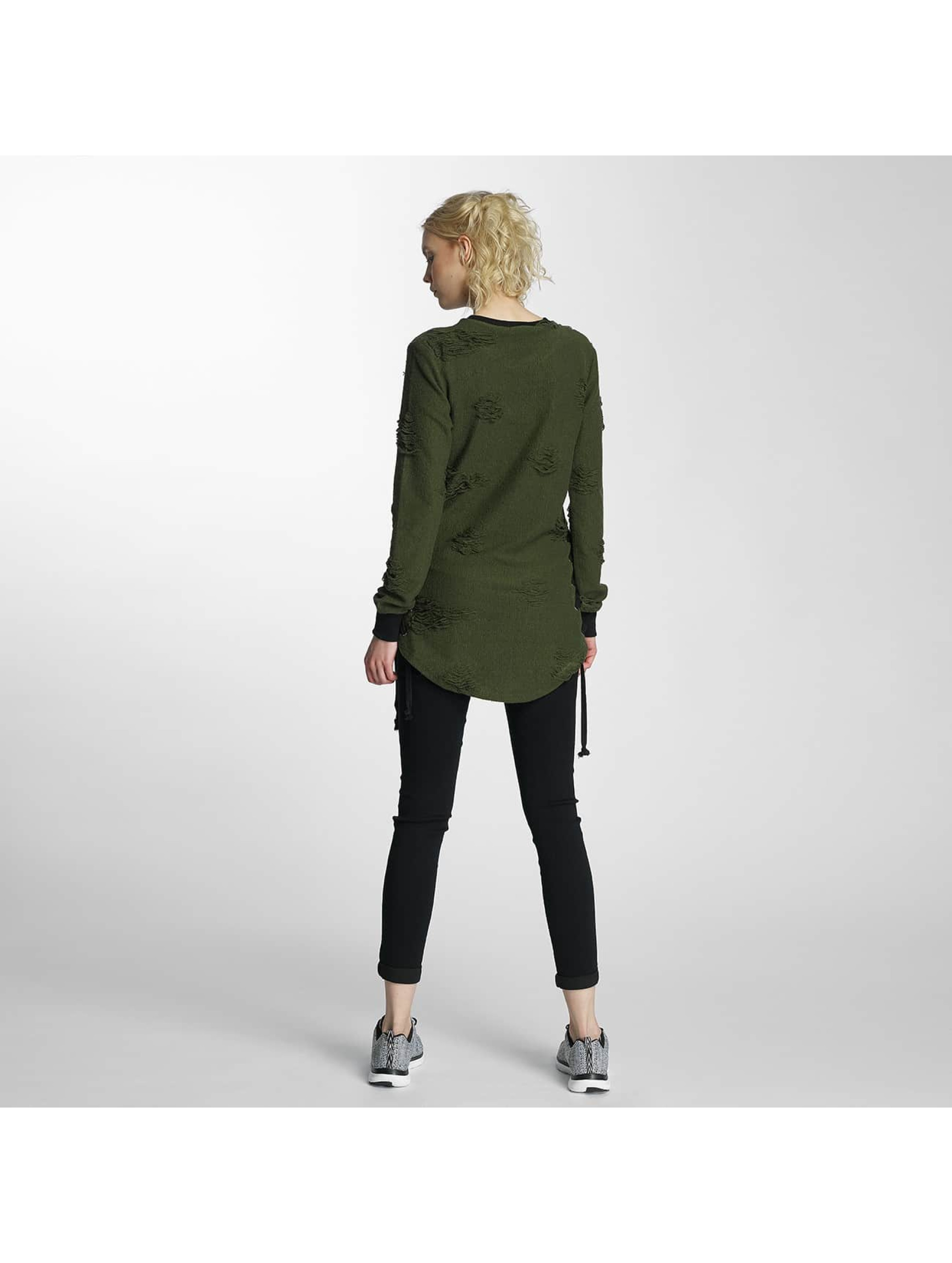 Paris Premium Pullover Destroyed green