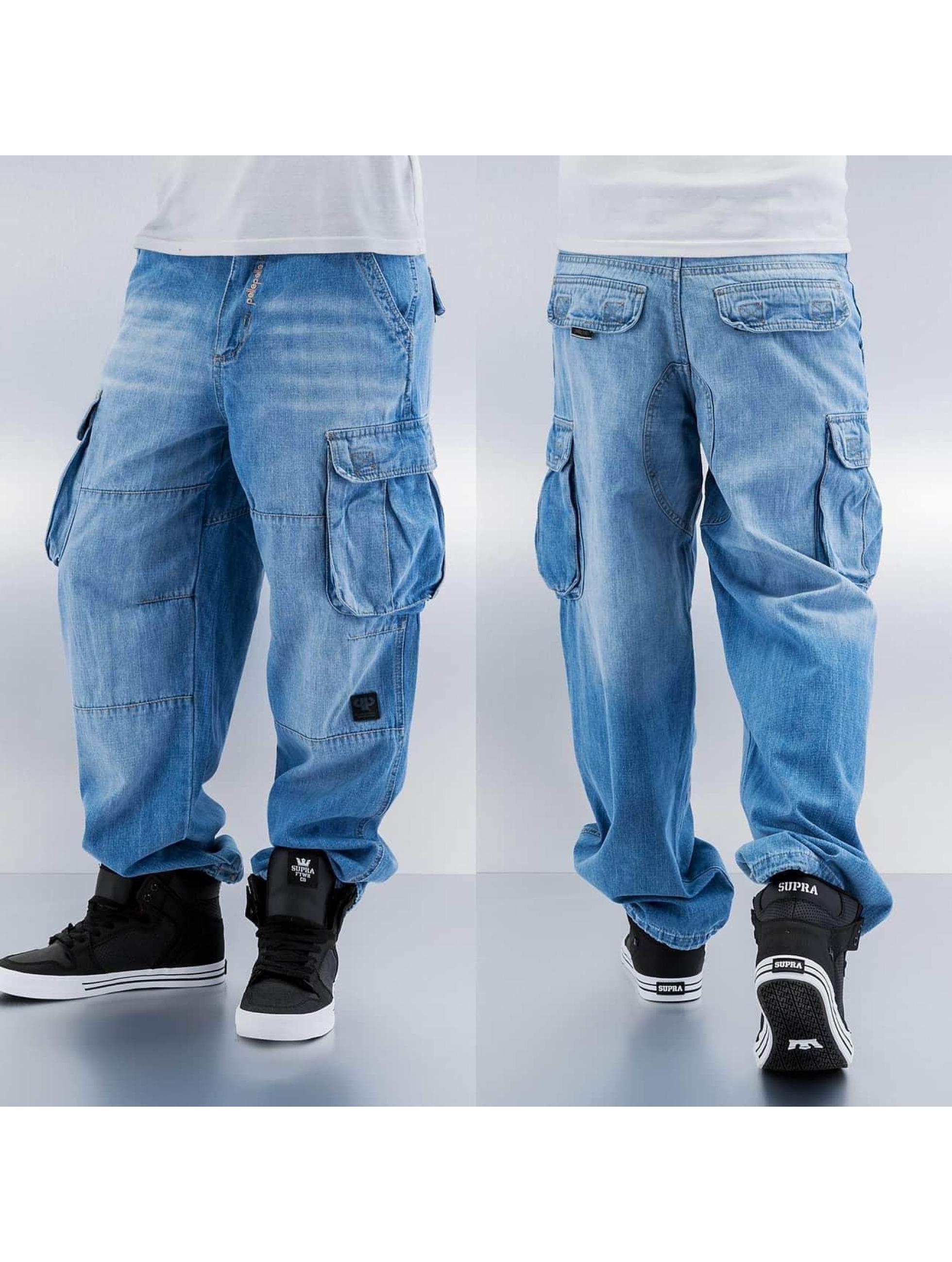 Pelle Pelle Cargo pants Denim blue