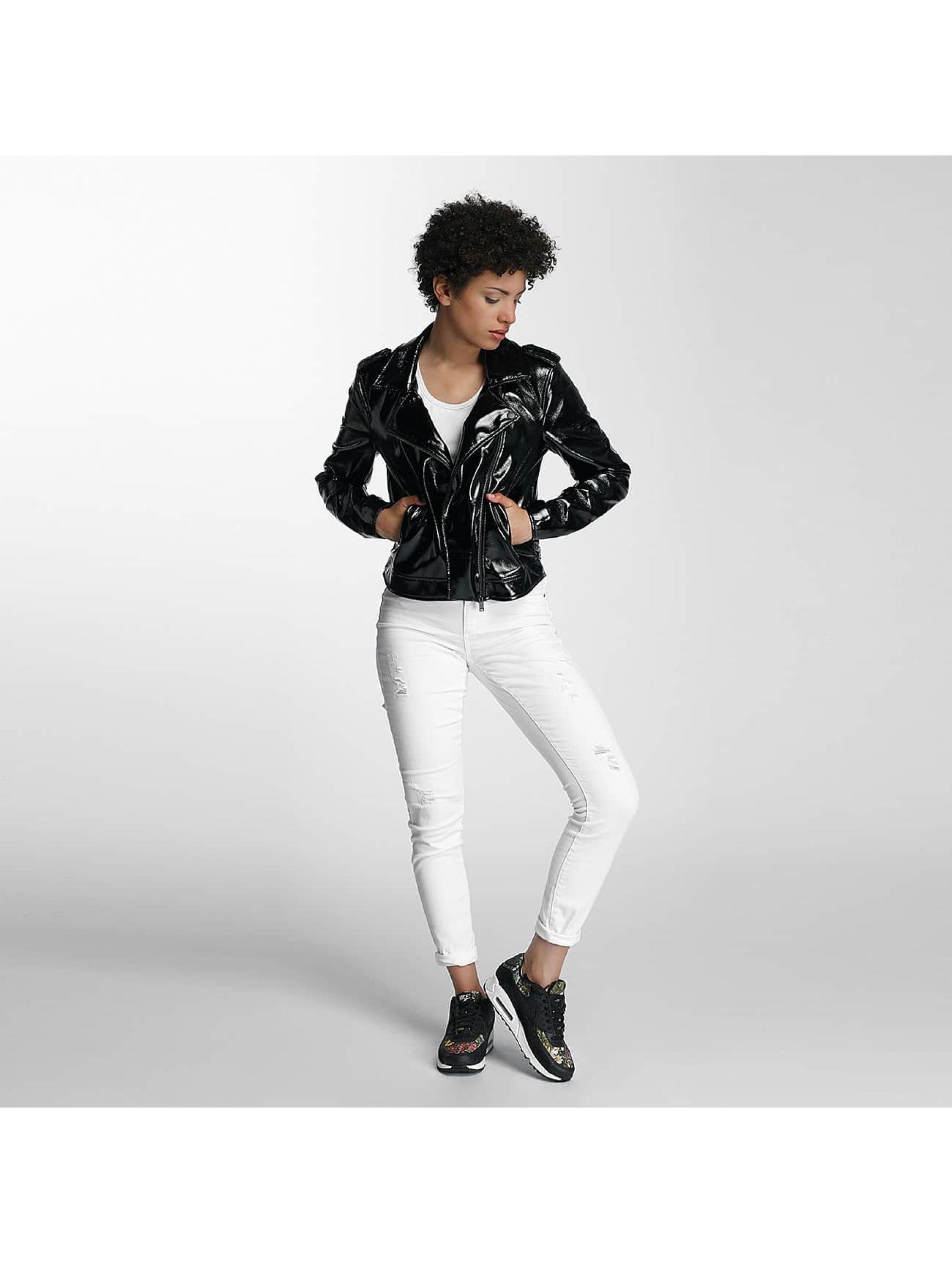 Pieces Leather Jacket pcEkim black