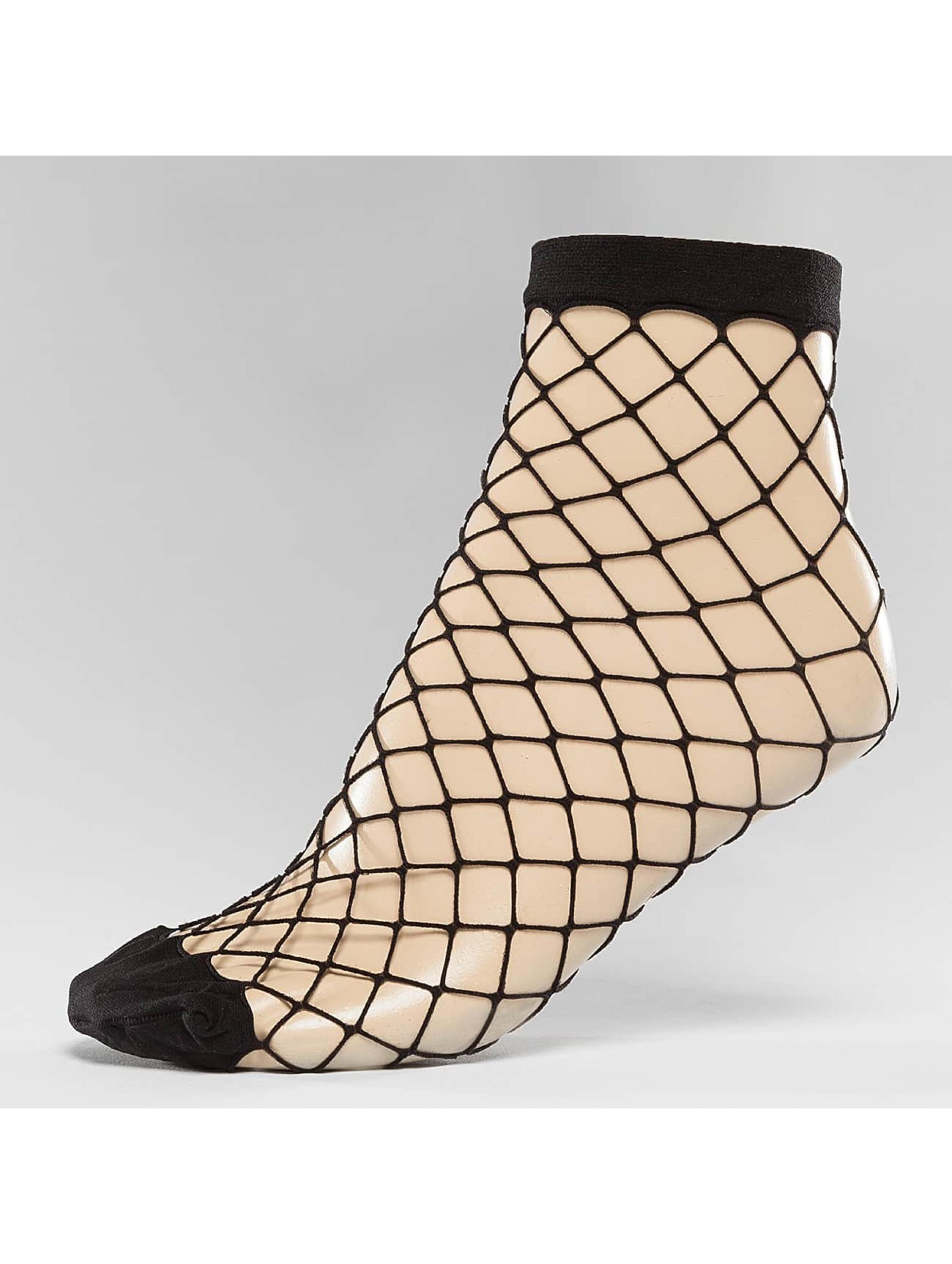 Pieces Socks pcFishnet black