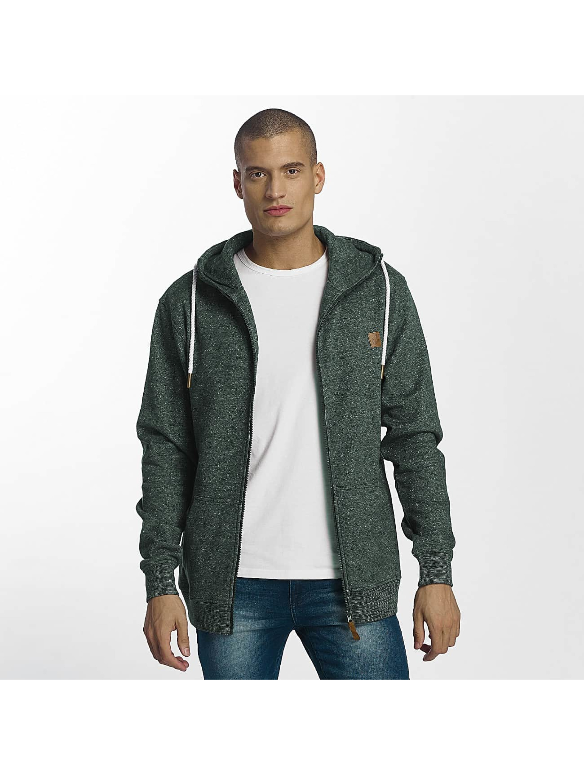 Platinum Anchor Zip Hoodie Hookipa green