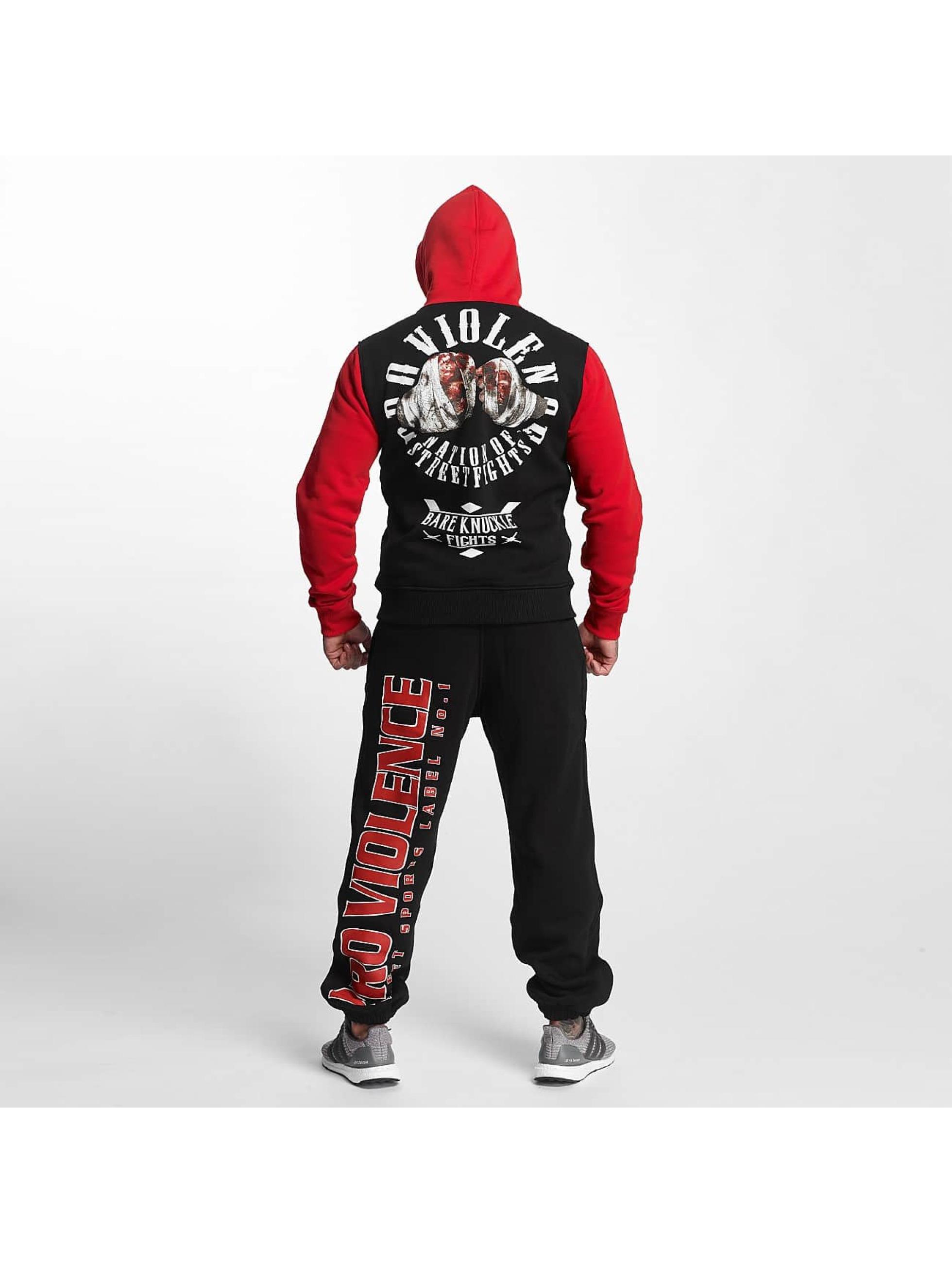 Pro Violence Streetwear Hoodie Nuckle Bare black