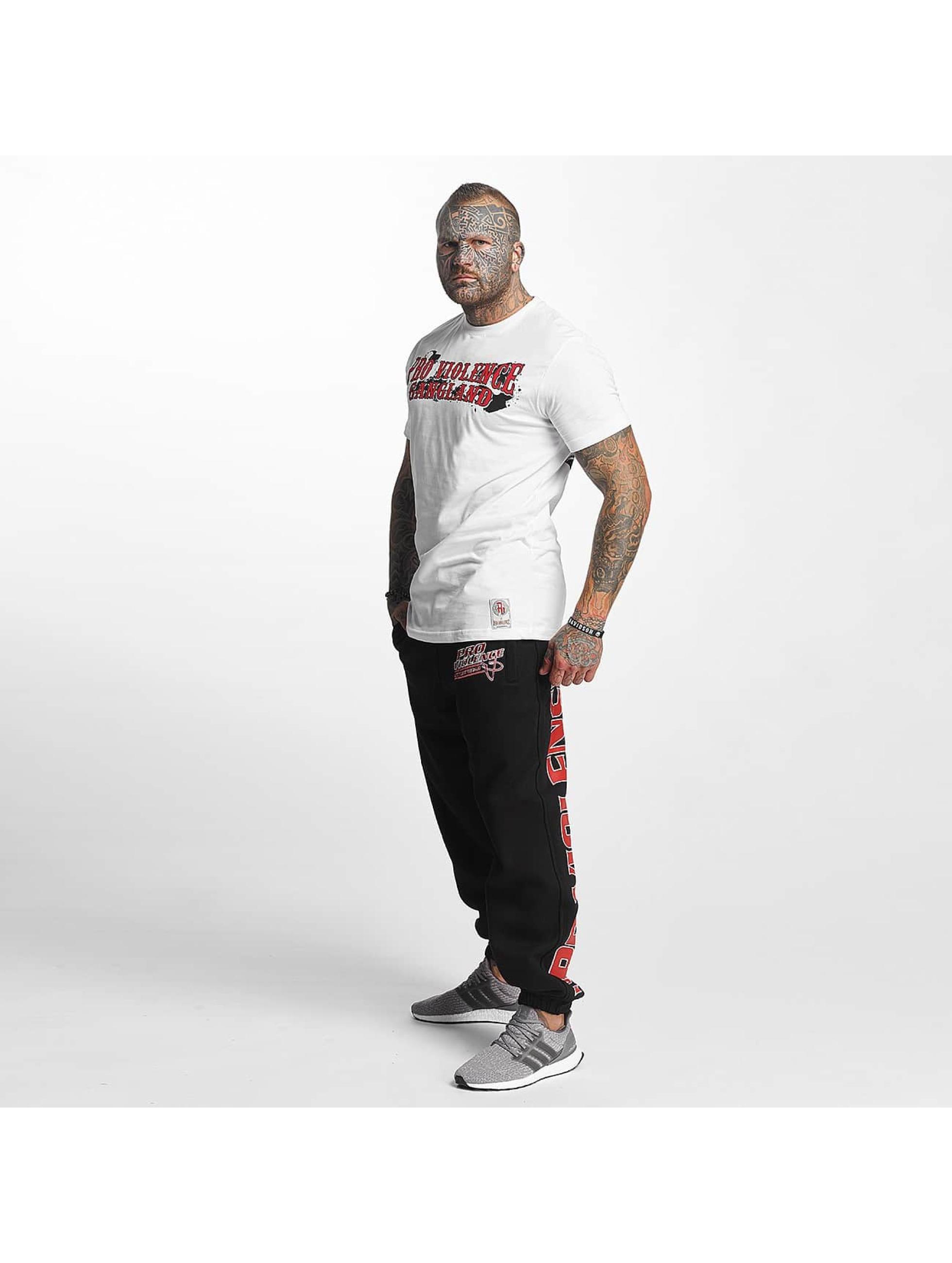 Pro Violence Streetwear T-Shirt Gangland white
