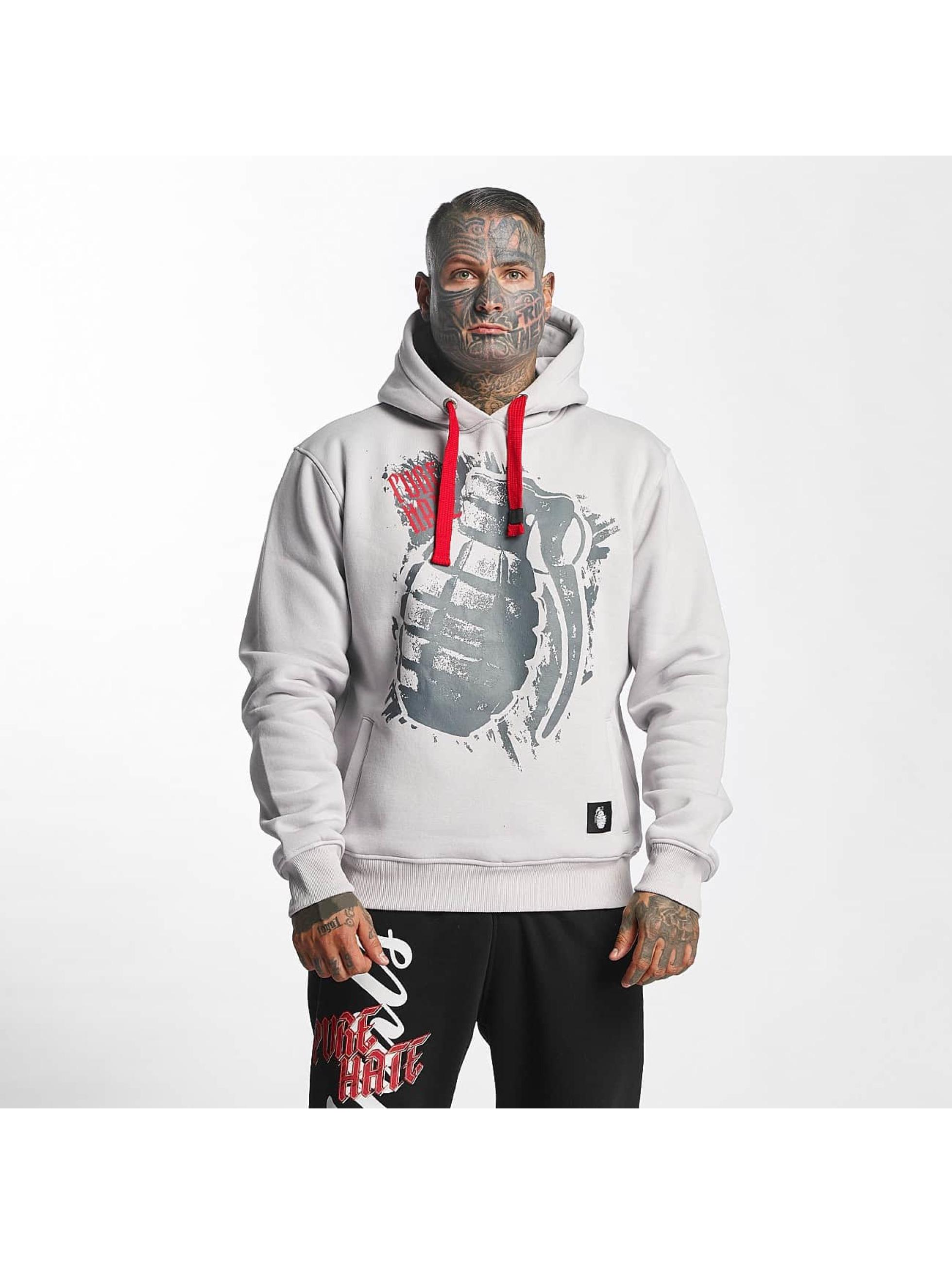 Pure Hate Hoodie Hand Grenade gray