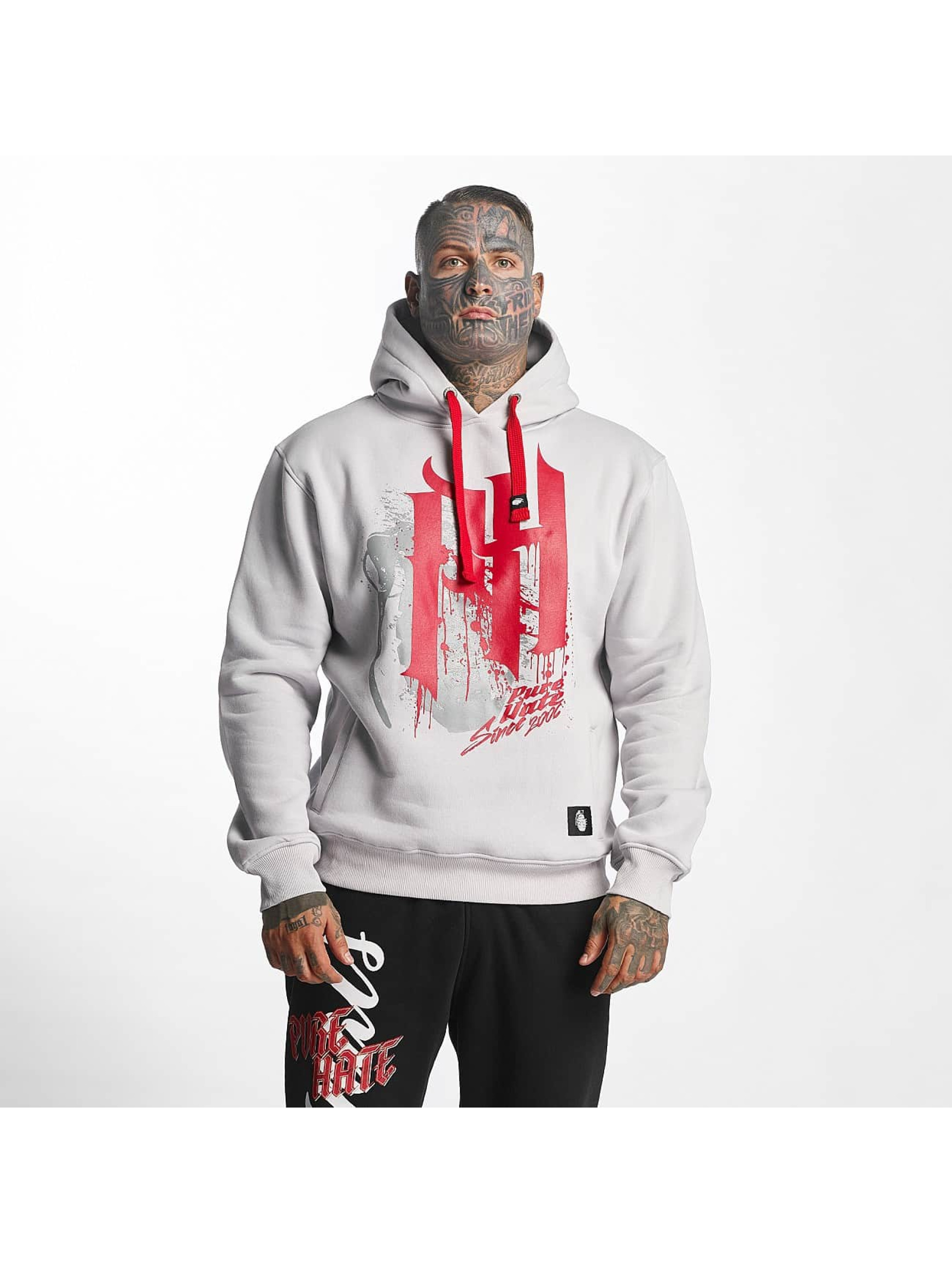 Pure Hate Hoodie Bloody Letters gray