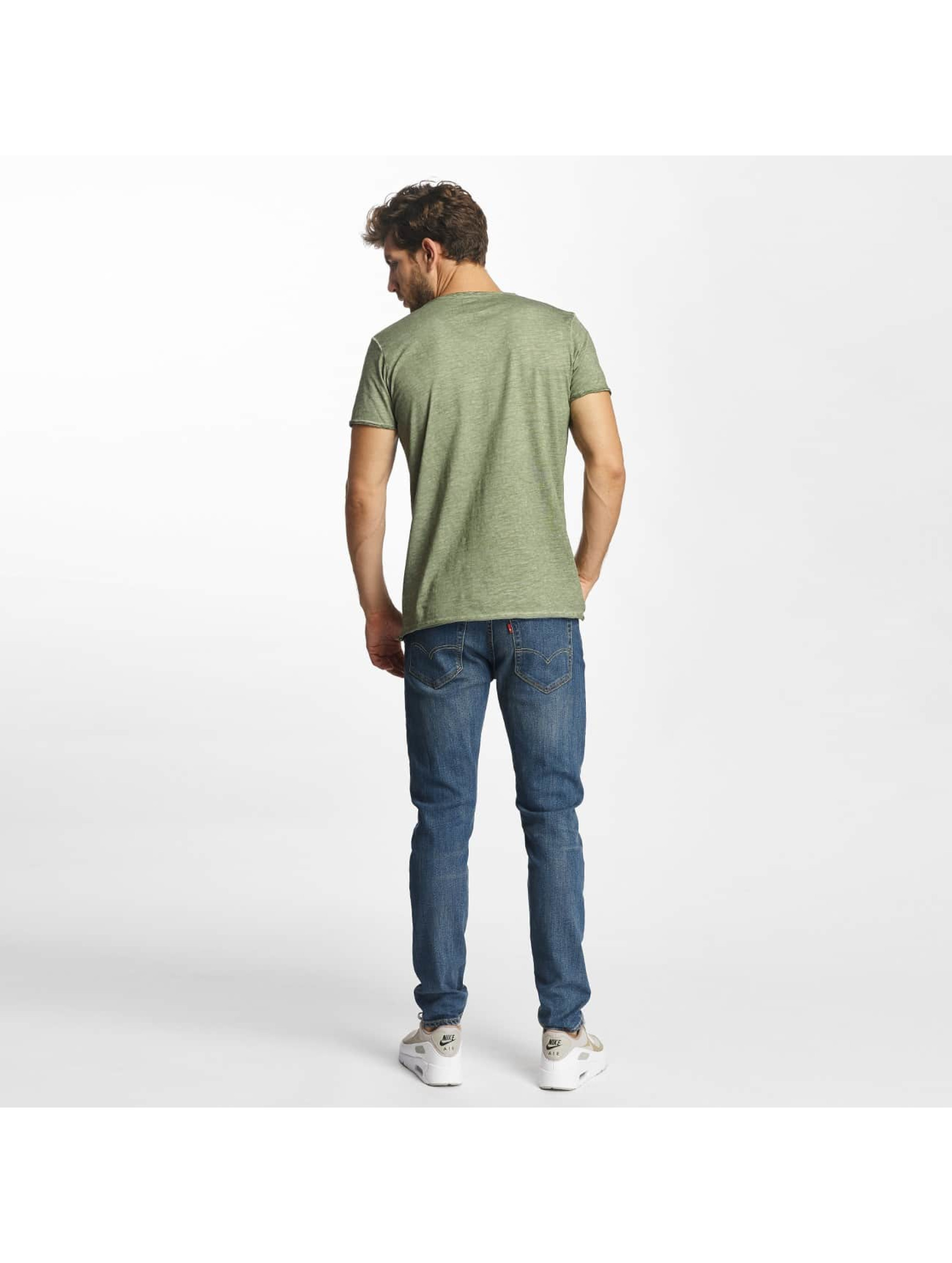 Red Bridge T-Shirt Thread Detail khaki