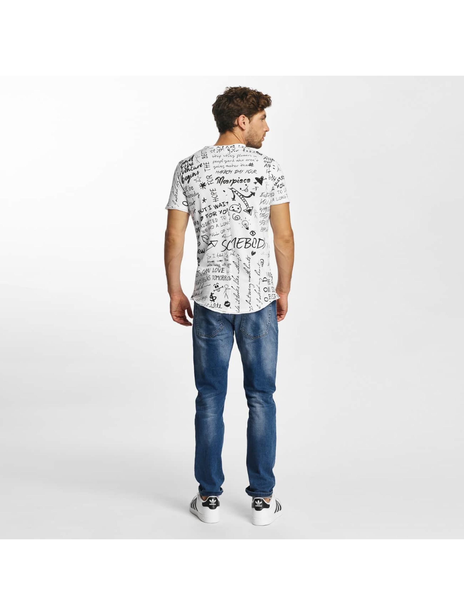 Red Bridge T-Shirt Born To Be Famous white