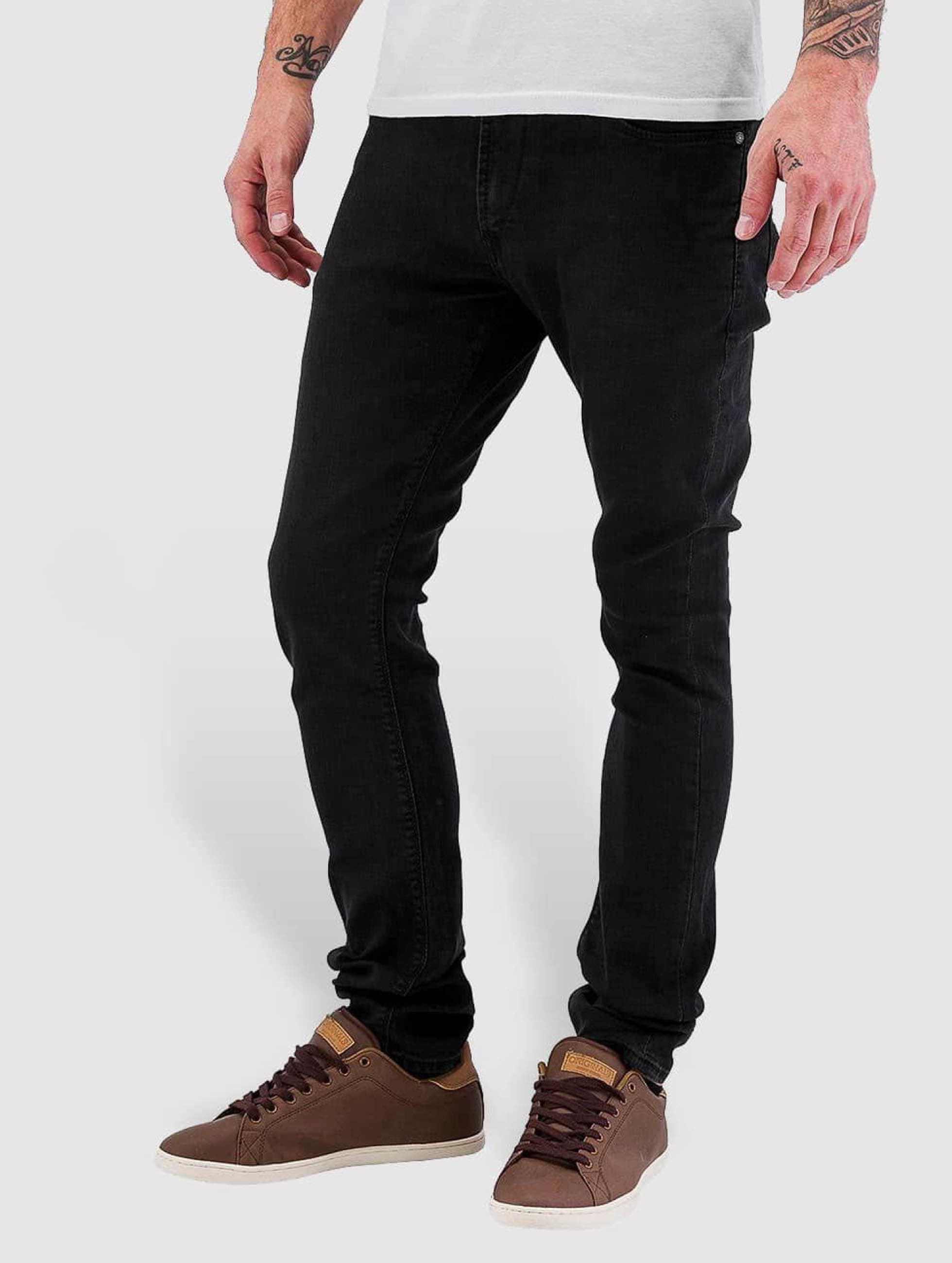 reell jeans herren skinny jeans radar stretch super in schwarz 104197. Black Bedroom Furniture Sets. Home Design Ideas