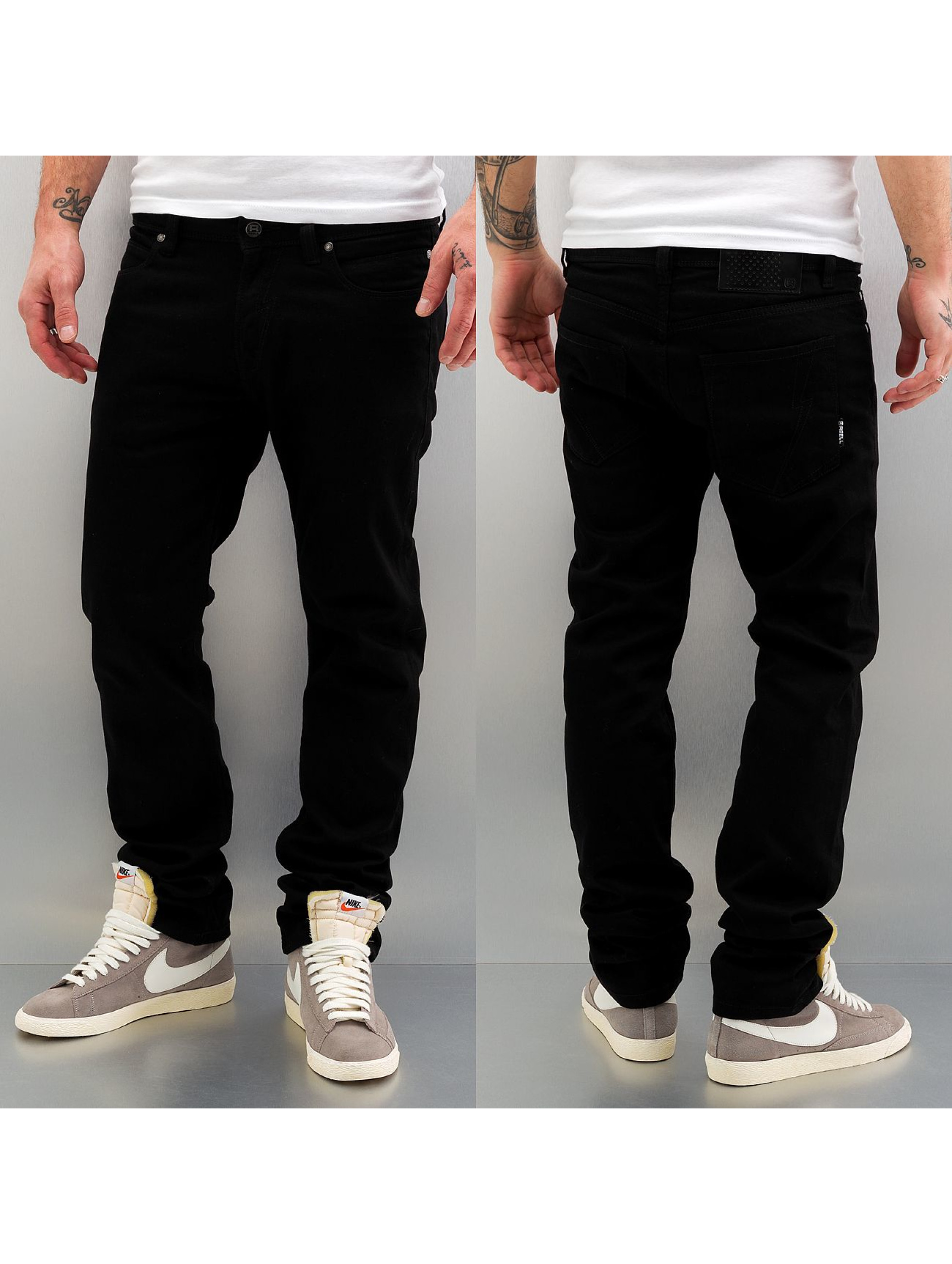 reell jeans herren skinny jeans skin stretch in schwarz 39080. Black Bedroom Furniture Sets. Home Design Ideas