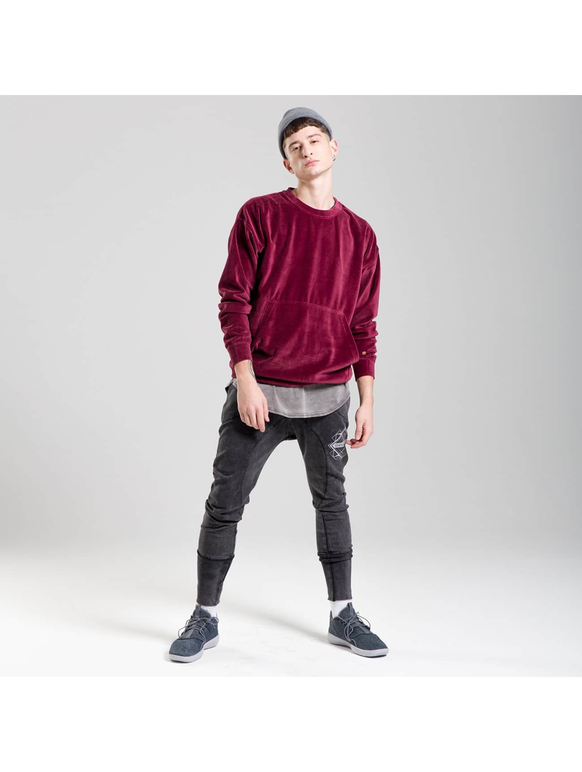 Rocawear Pullover Velour Samt red