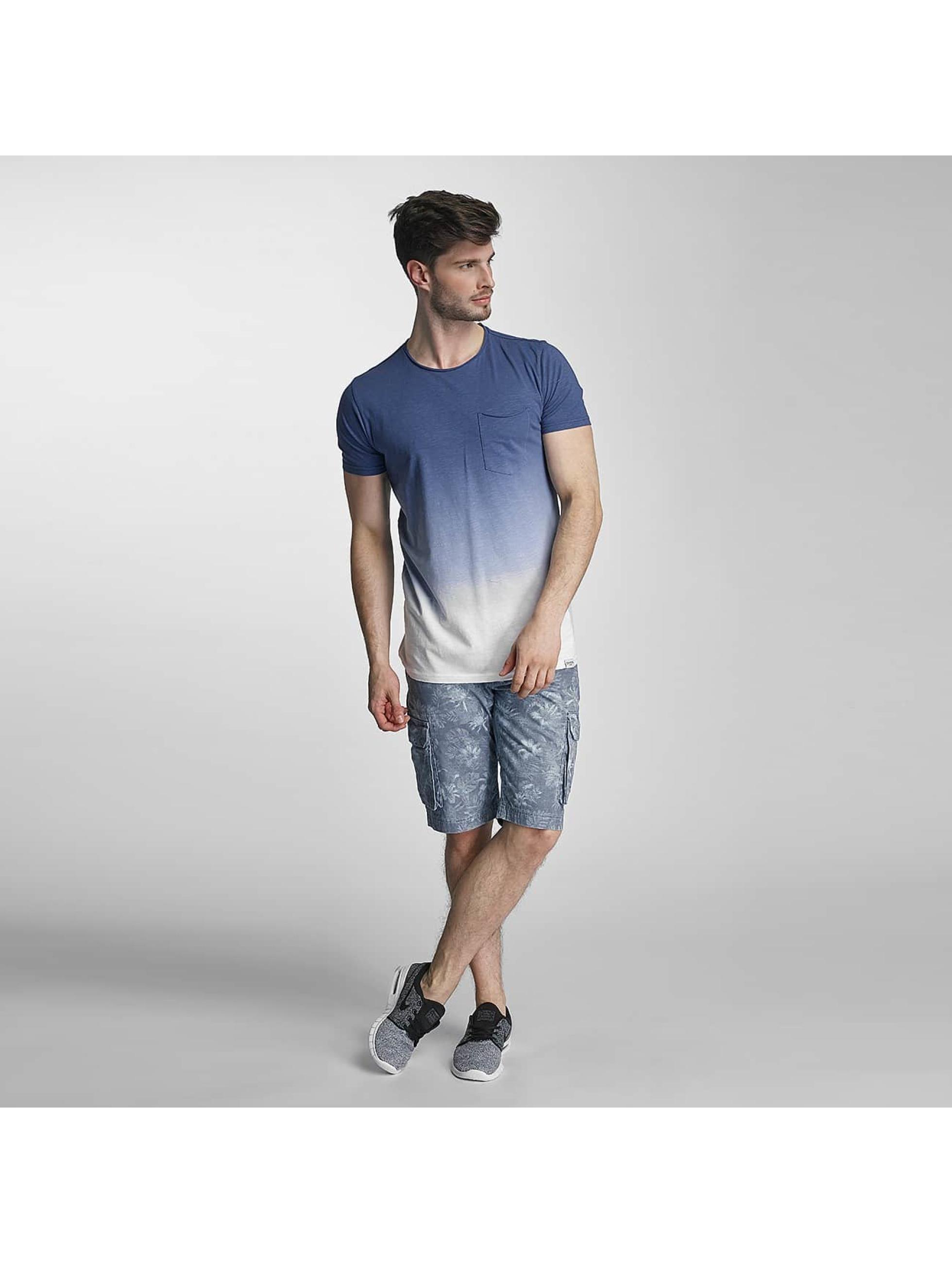 SHINE Original T-Shirt Dip Dyed blue