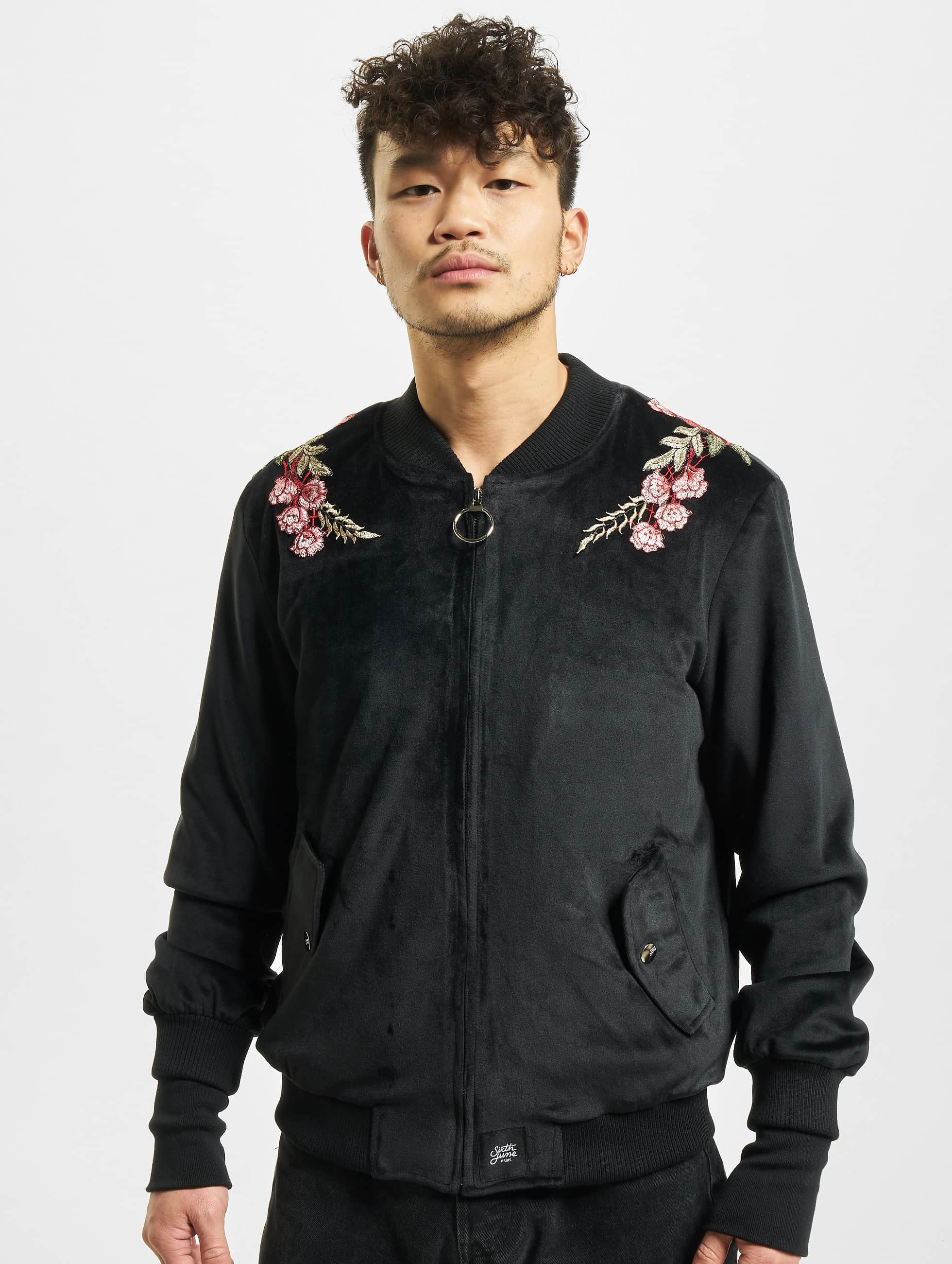 Sixth June Lightweight Jacket Roses black