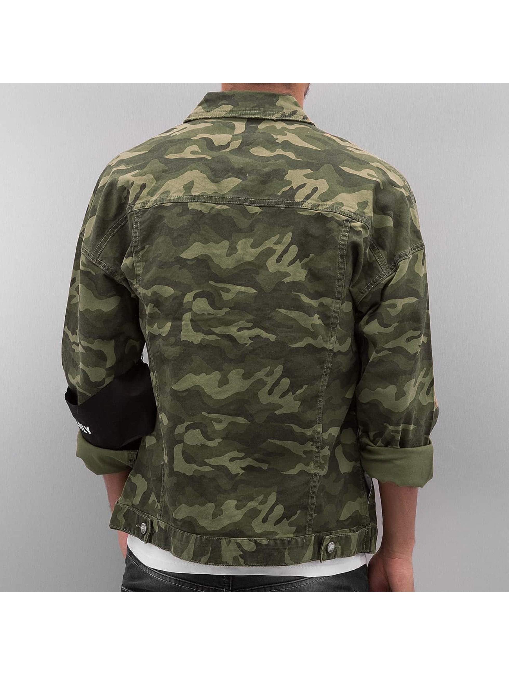 Sixth June Lightweight Jacket Oversized Denim camouflage