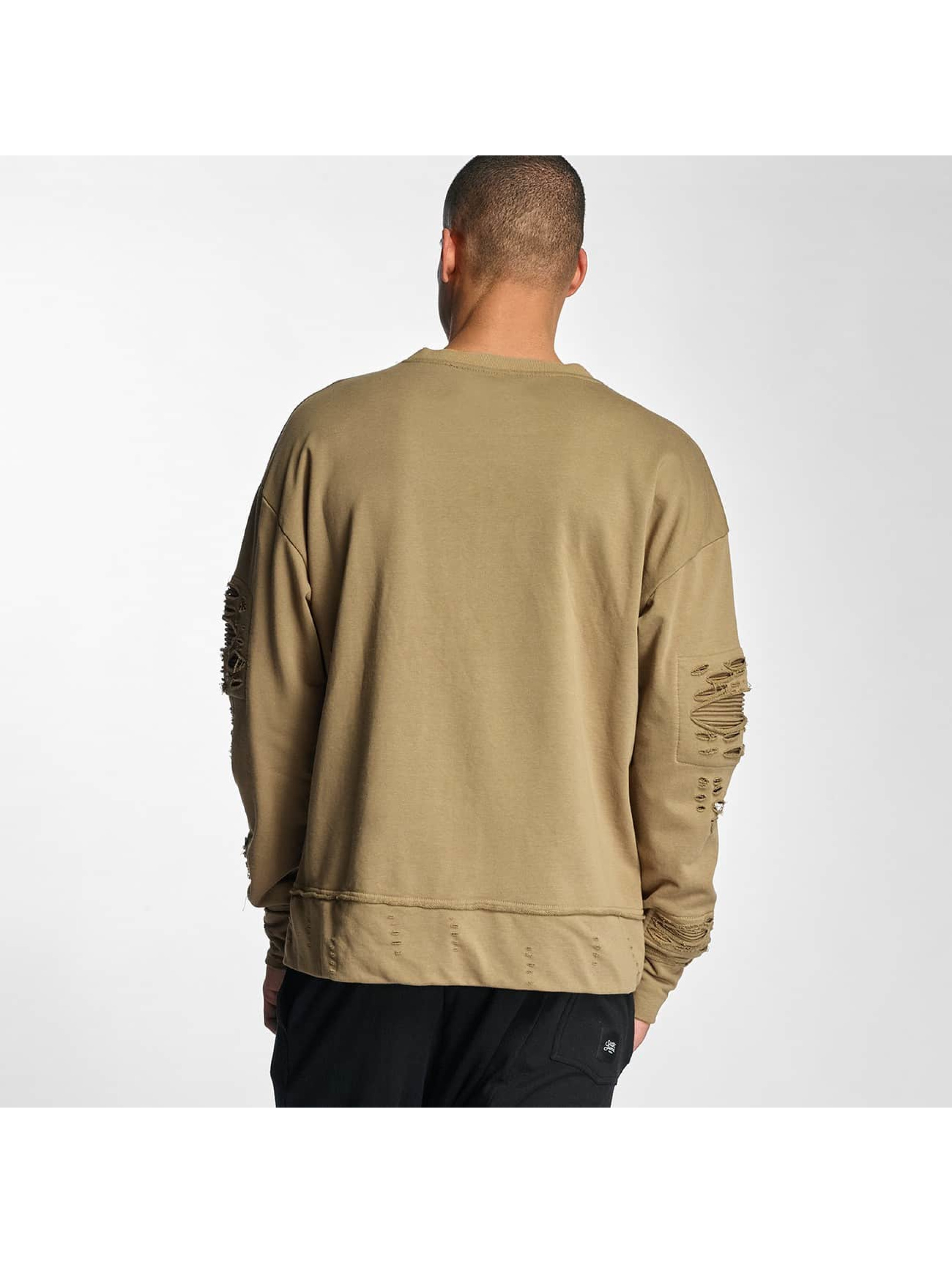 Sixth June Pullover Destroyed Biker beige