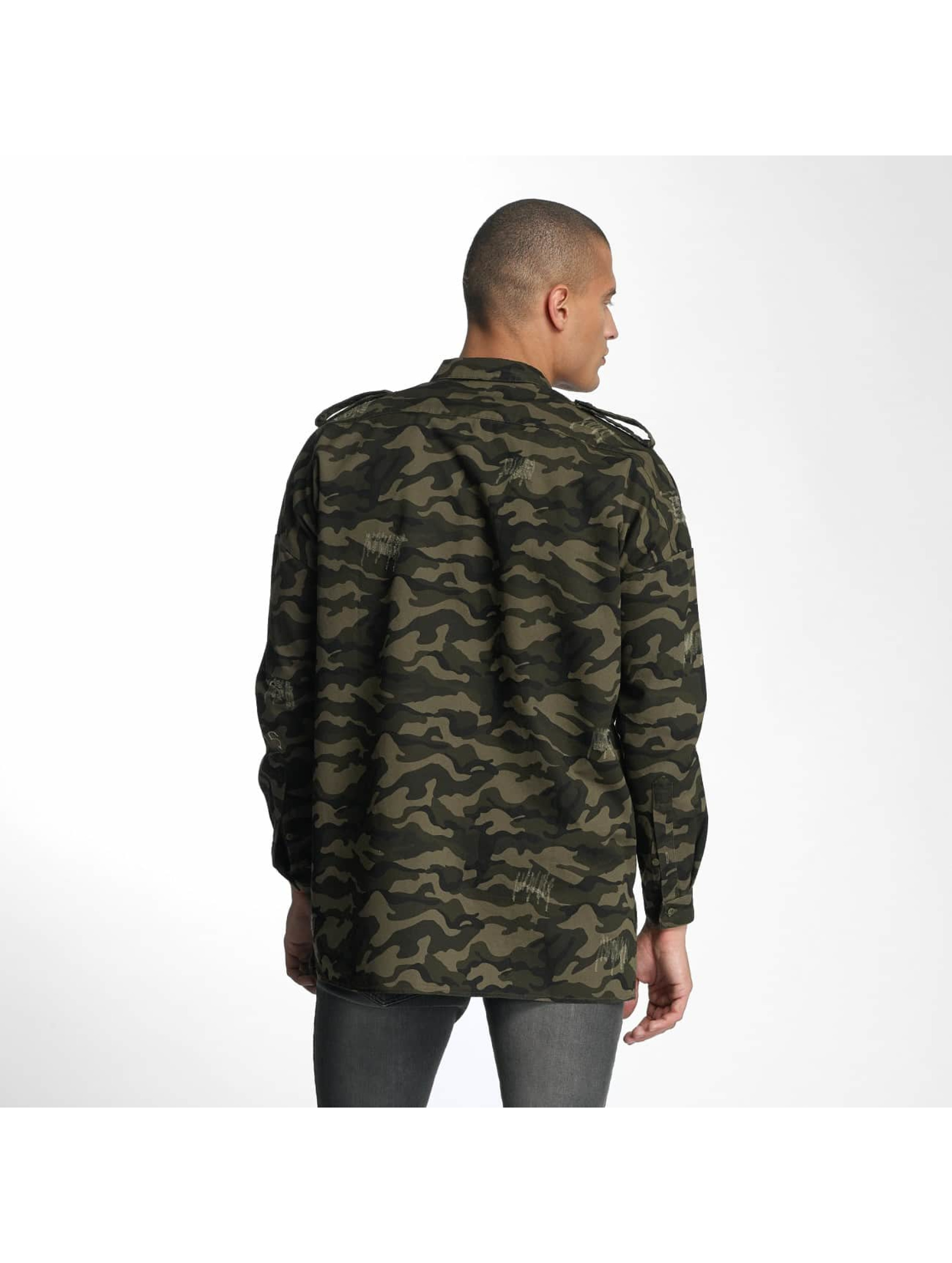 Sixth June Shirt Oversized Destroyed camouflage