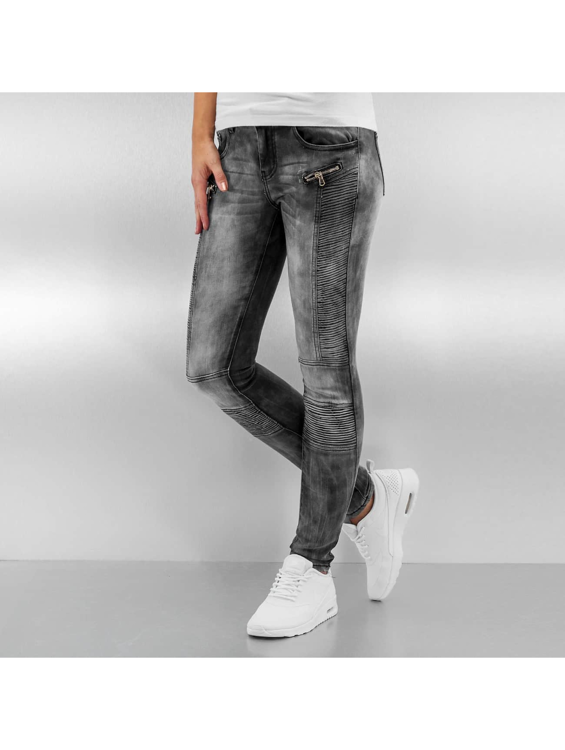 Sixth June Skinny Jeans Washed Tie and Dye Bike gray
