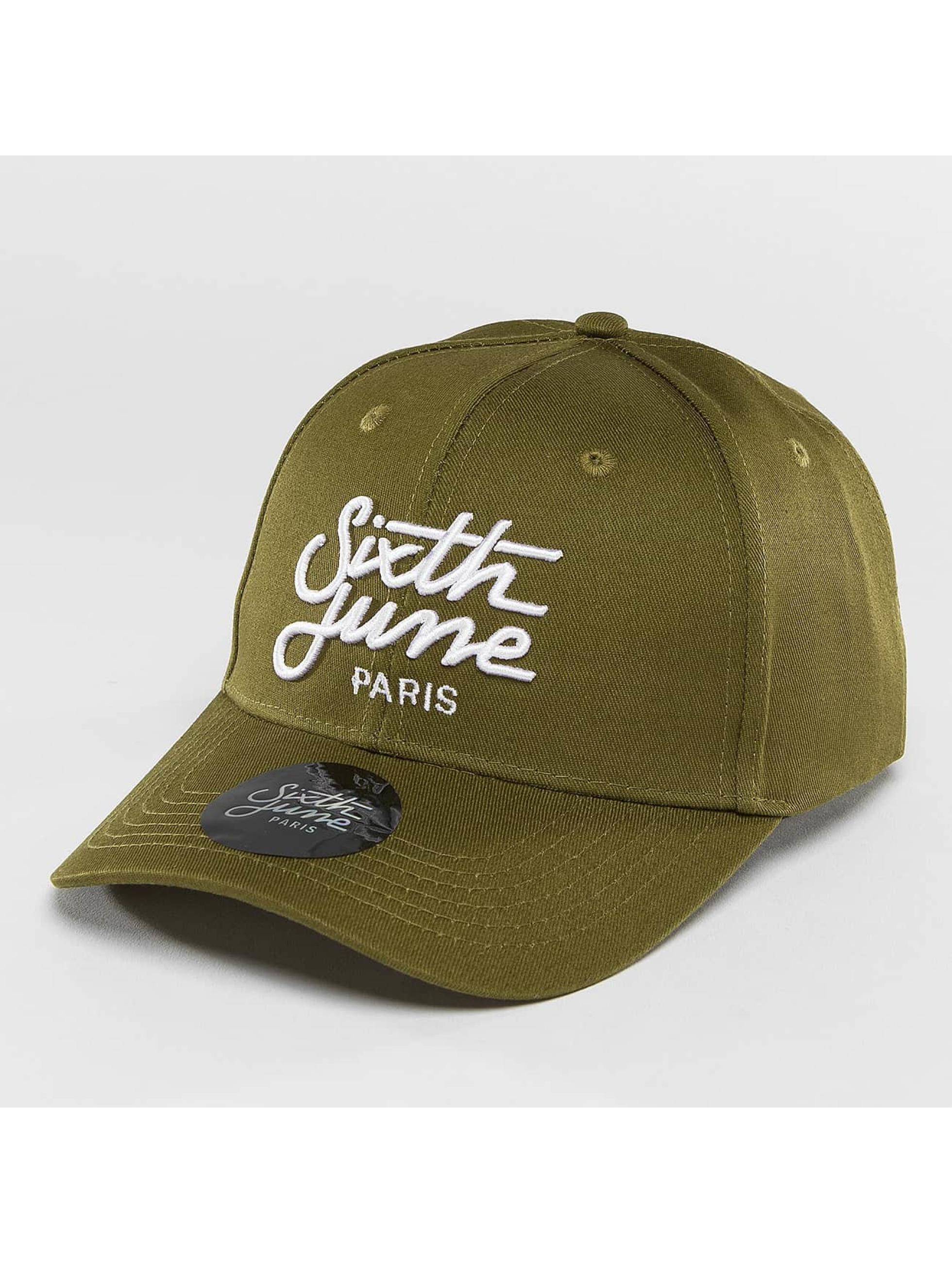 Sixth June Snapback Cap Curved Logo khaki