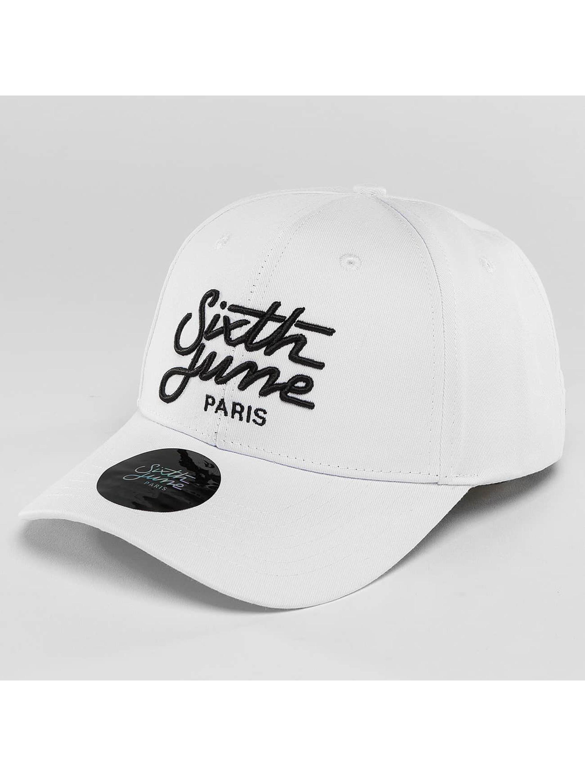 Sixth June Snapback Cap Curved Logo white