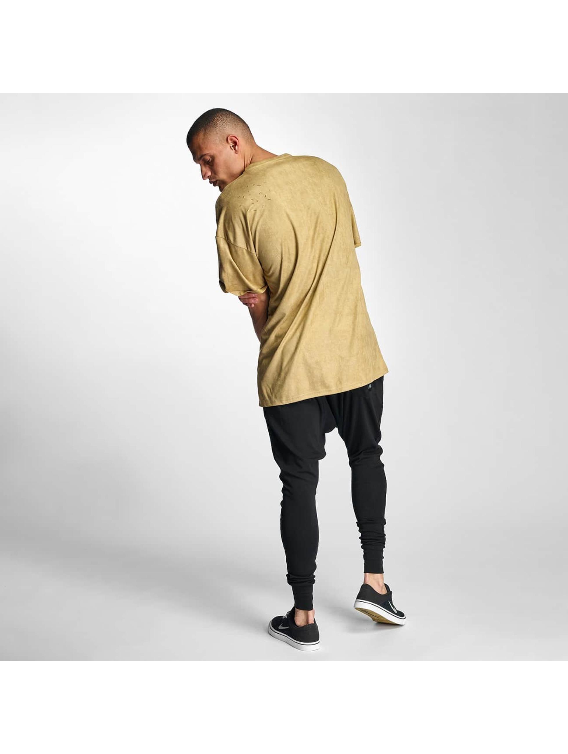 Sixth June T-Shirt Destroyed Overside Suede beige