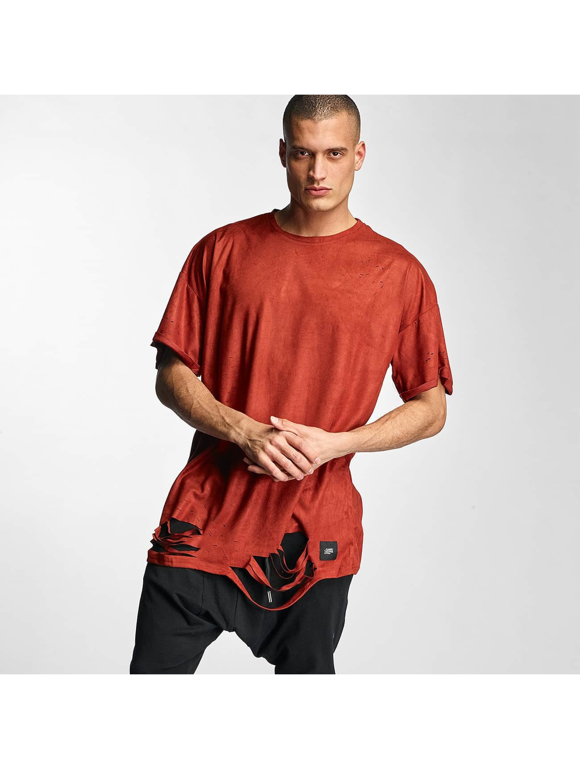 Sixth June T-Shirt Destroyed Overside Suede red