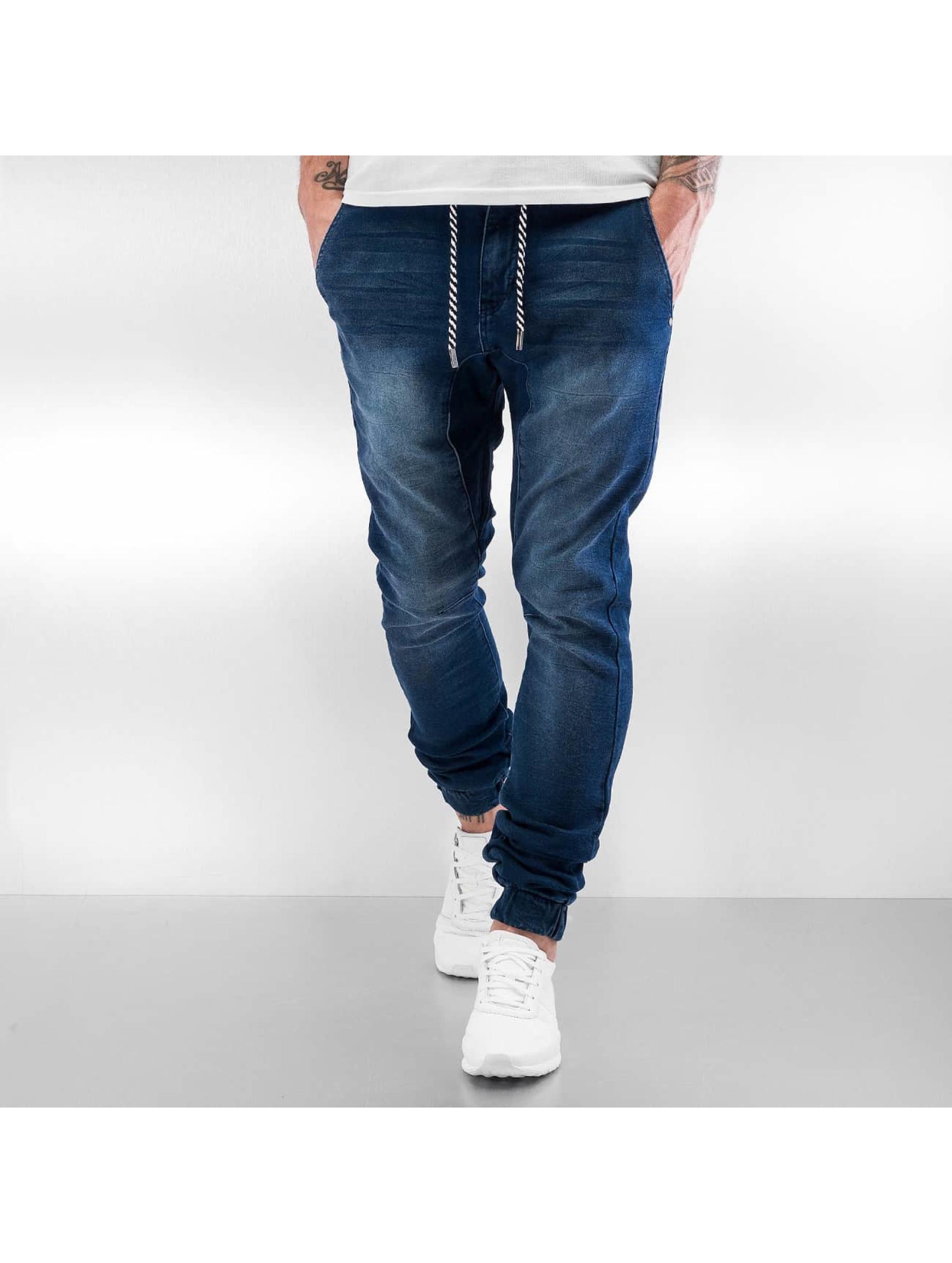sky rebel herren jogginghose jeans style in blau 298474. Black Bedroom Furniture Sets. Home Design Ideas