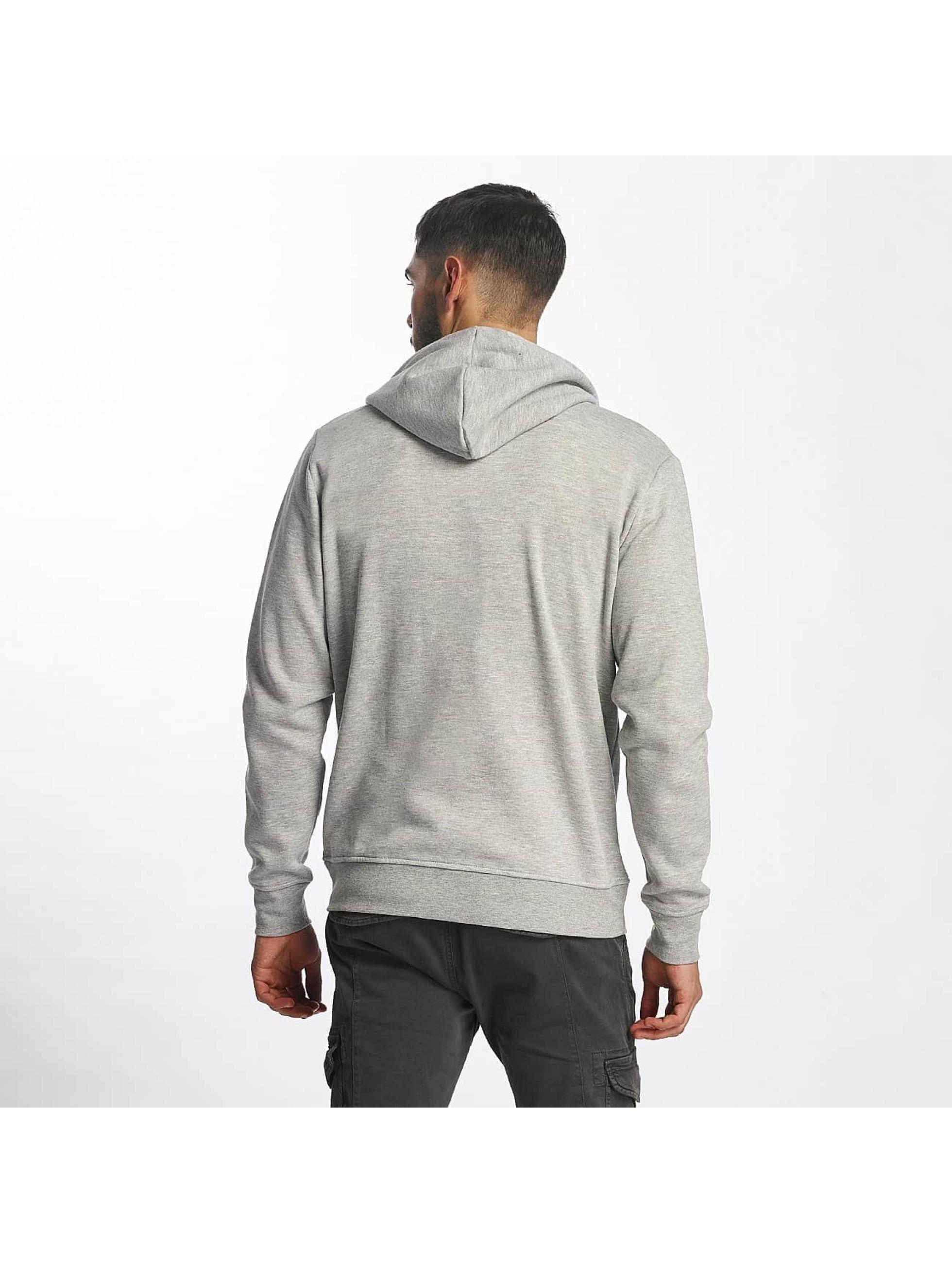 Solid Zip Hoodie Deacon gray