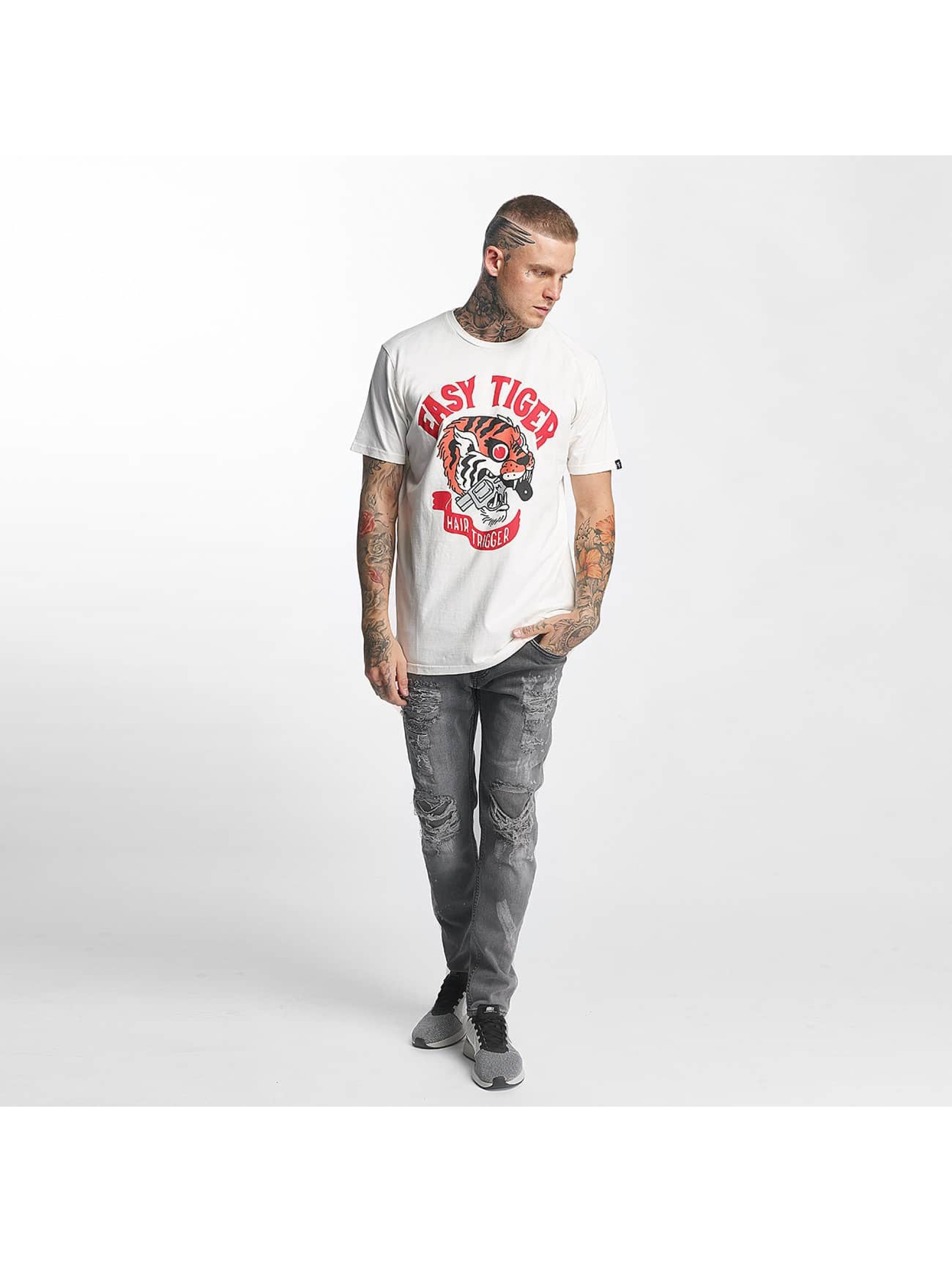 The Dudes T-Shirt Easy Tiger white