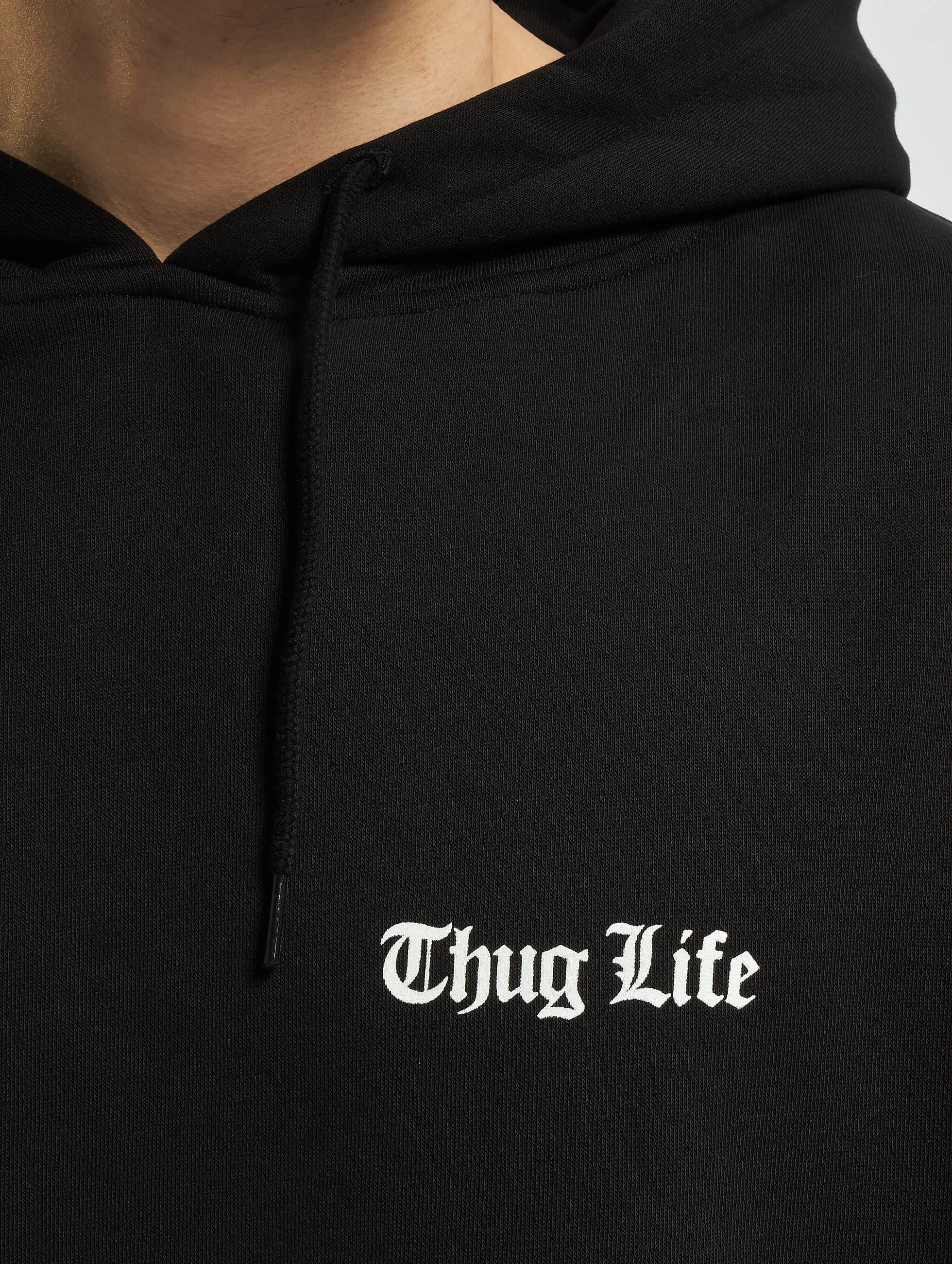 Thug Life Basic Hoodie Life Chest black
