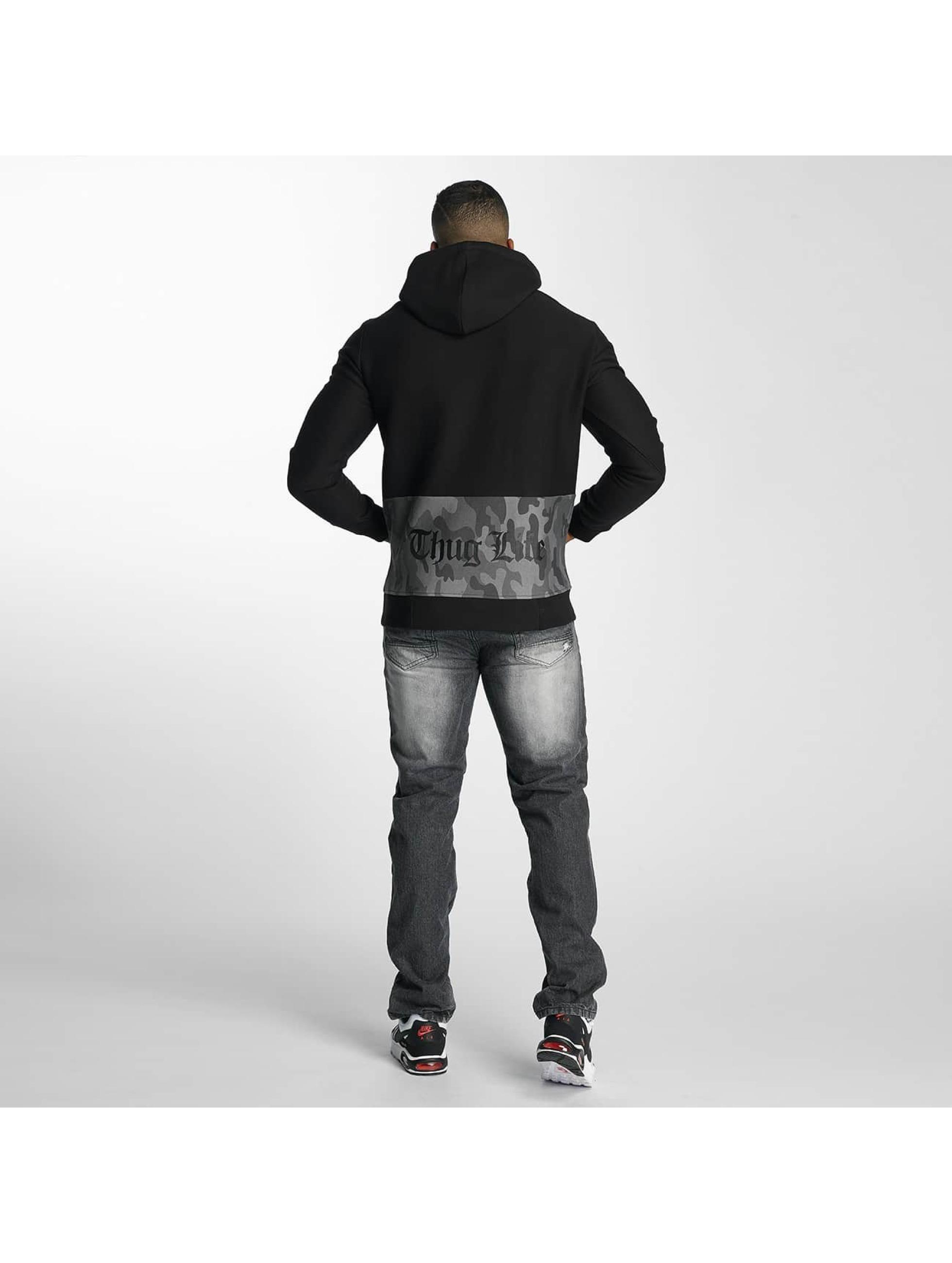 Thug Life Hoodie Burn black