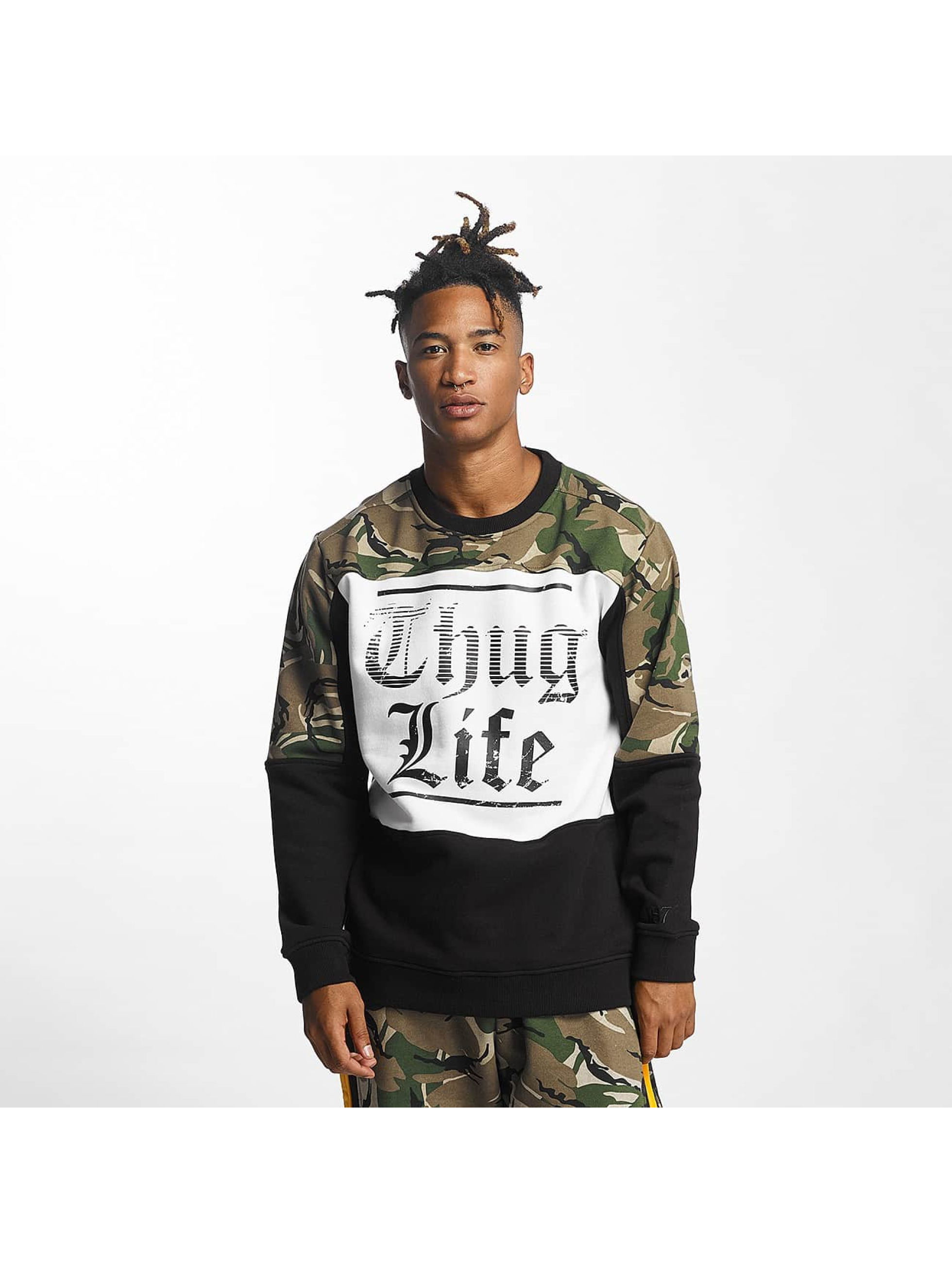 thug life herren pullover new life in camouflage 357732. Black Bedroom Furniture Sets. Home Design Ideas