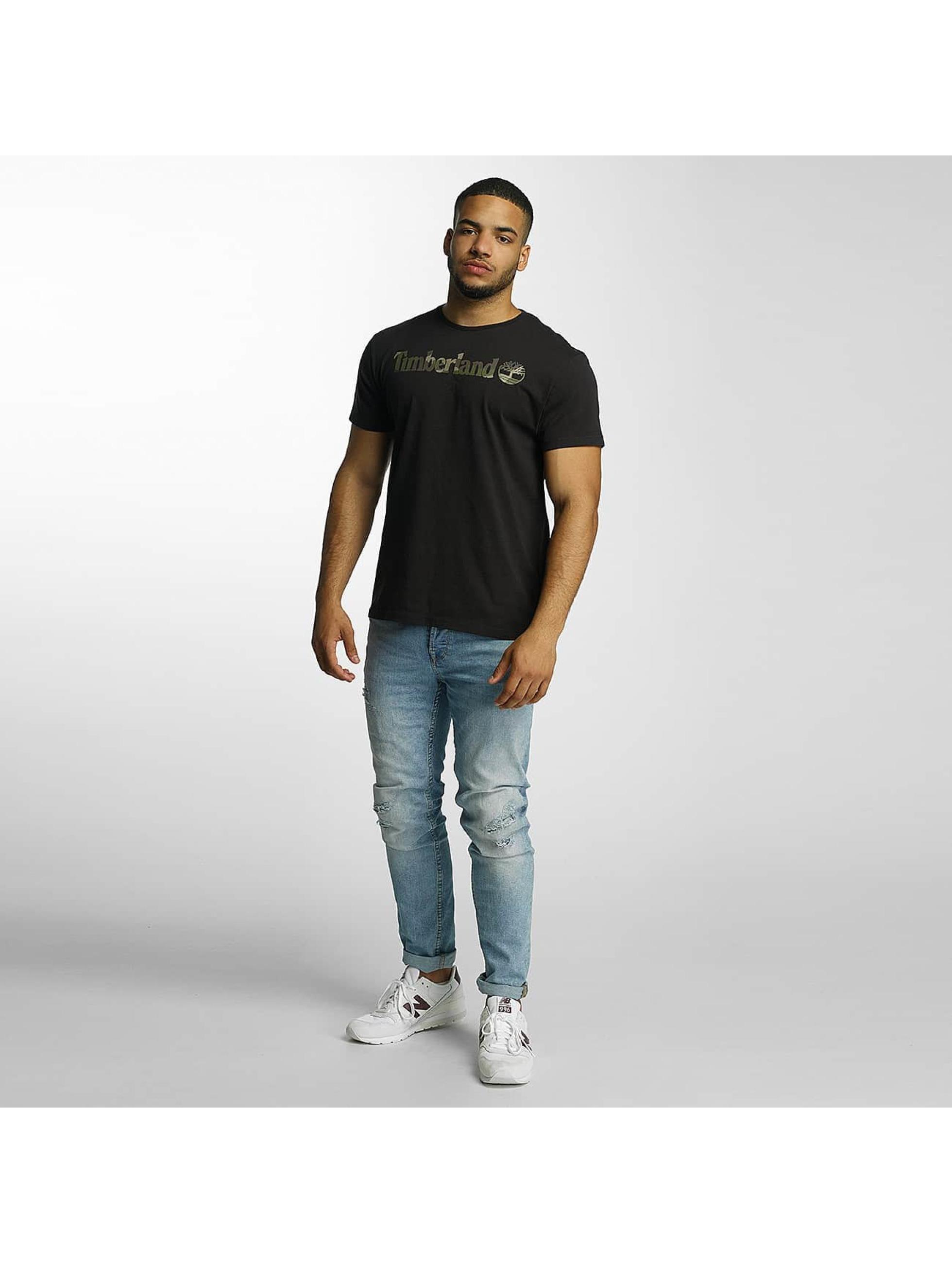 Timberland T-Shirt Dustan River Camo Print Brand black
