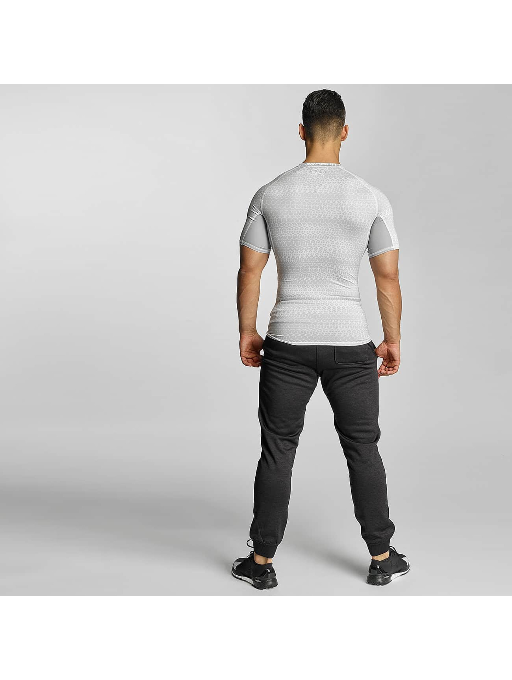 Under Armour T-Shirt Heatgear Printed Shortsleeve Compression white