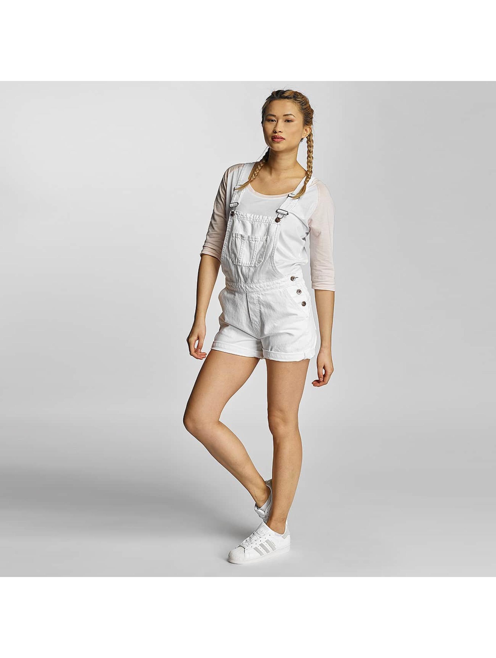Urban Classics Dungaree Ladies Short white