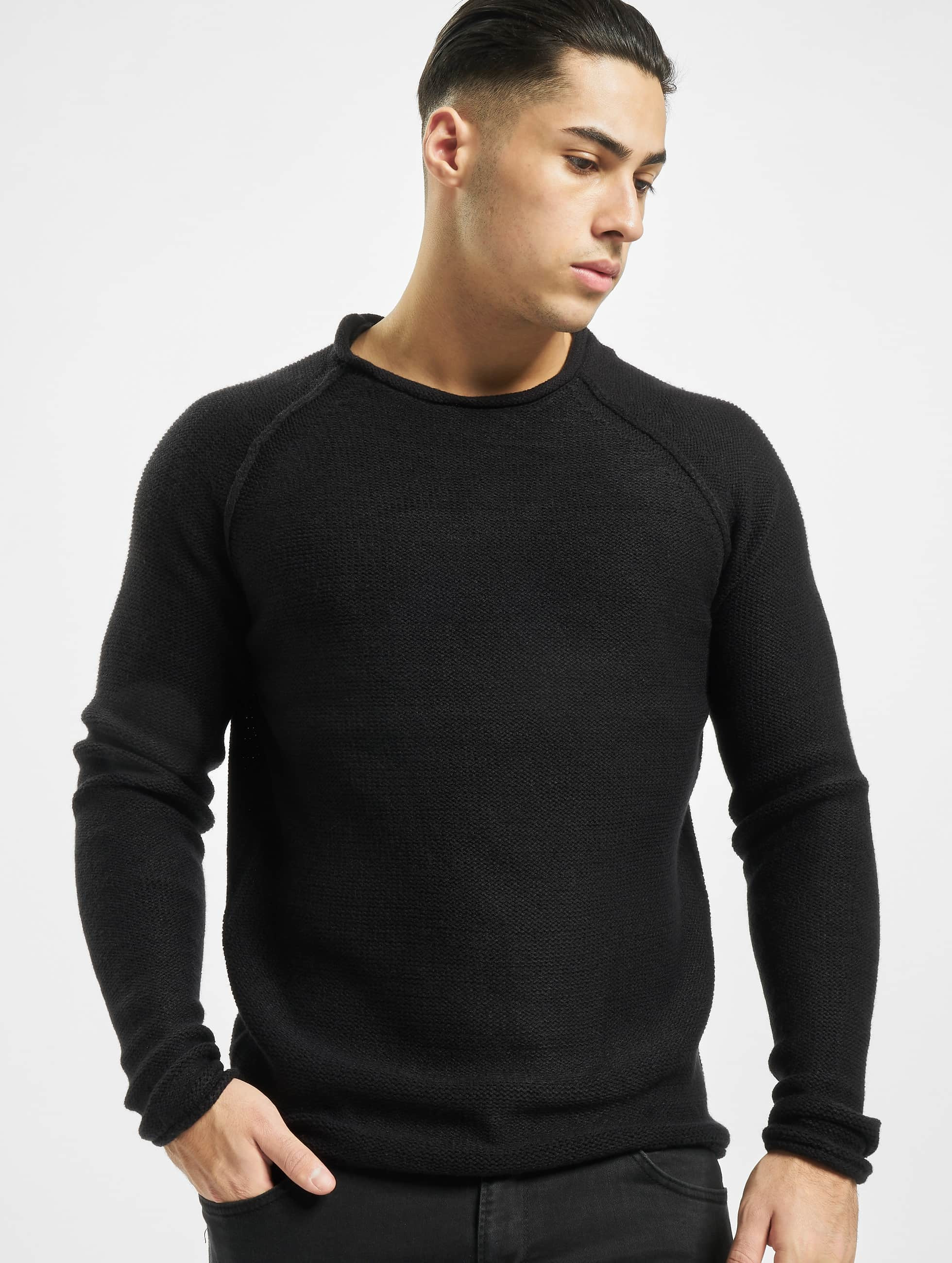 urban classics herren pullover raglan wideneck in schwarz. Black Bedroom Furniture Sets. Home Design Ideas