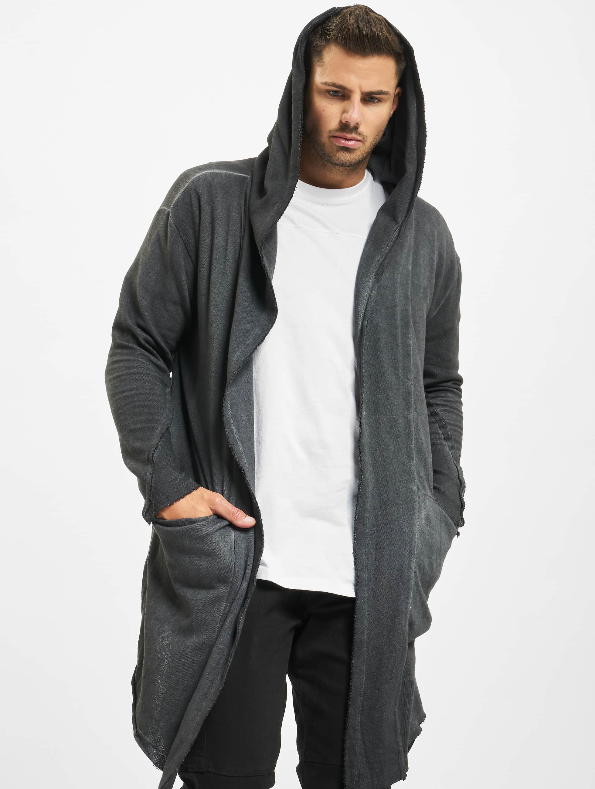 urban classics herren strickjacke cold dye in grau 294026. Black Bedroom Furniture Sets. Home Design Ideas