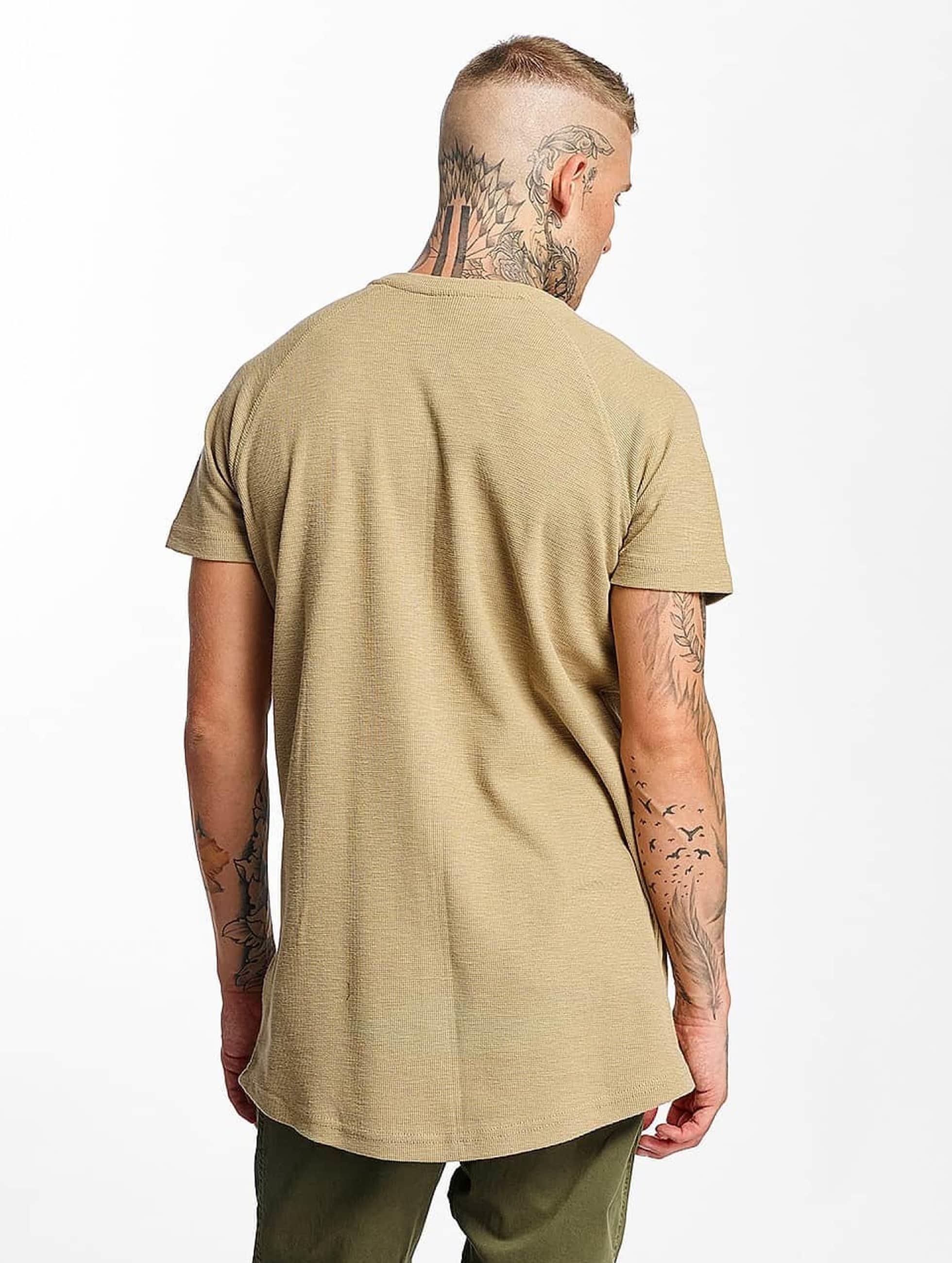 Urban Classics T-Shirt Thermal Slub Raglan Oversized beige