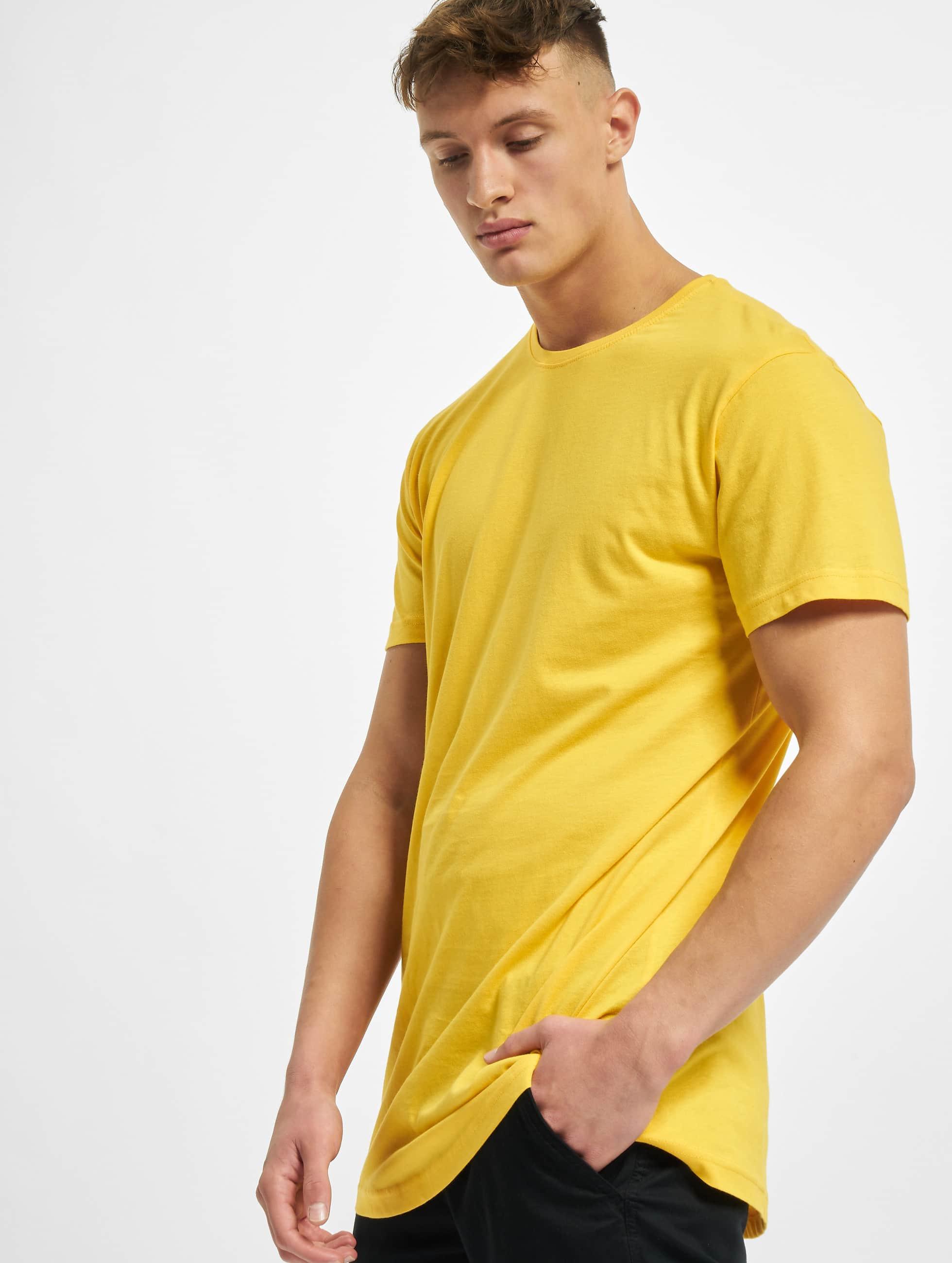 Urban Classics T-Shirt Shaped Oversized Long yellow