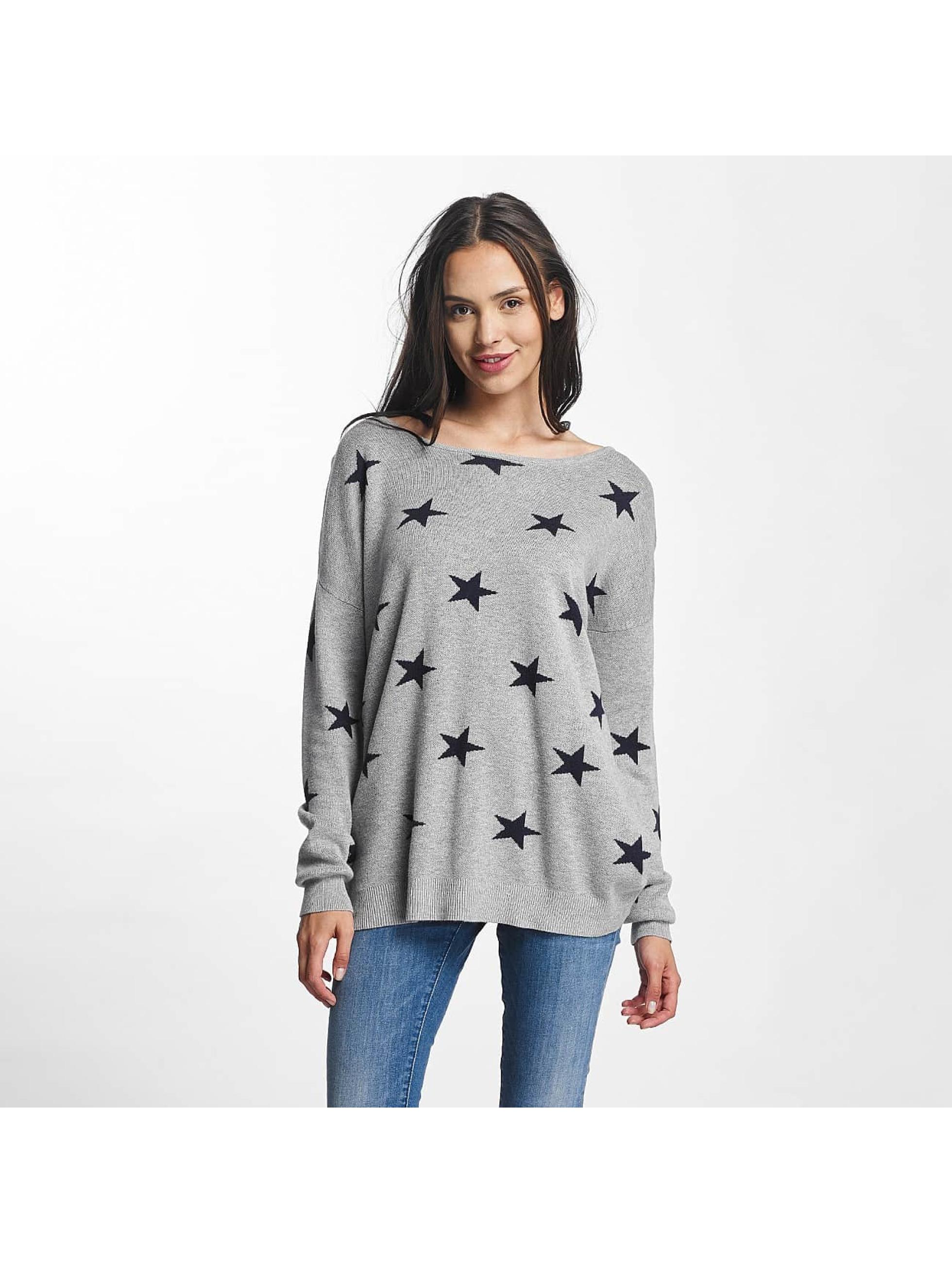 Vero Moda Pullover vmDotty Oversize gray