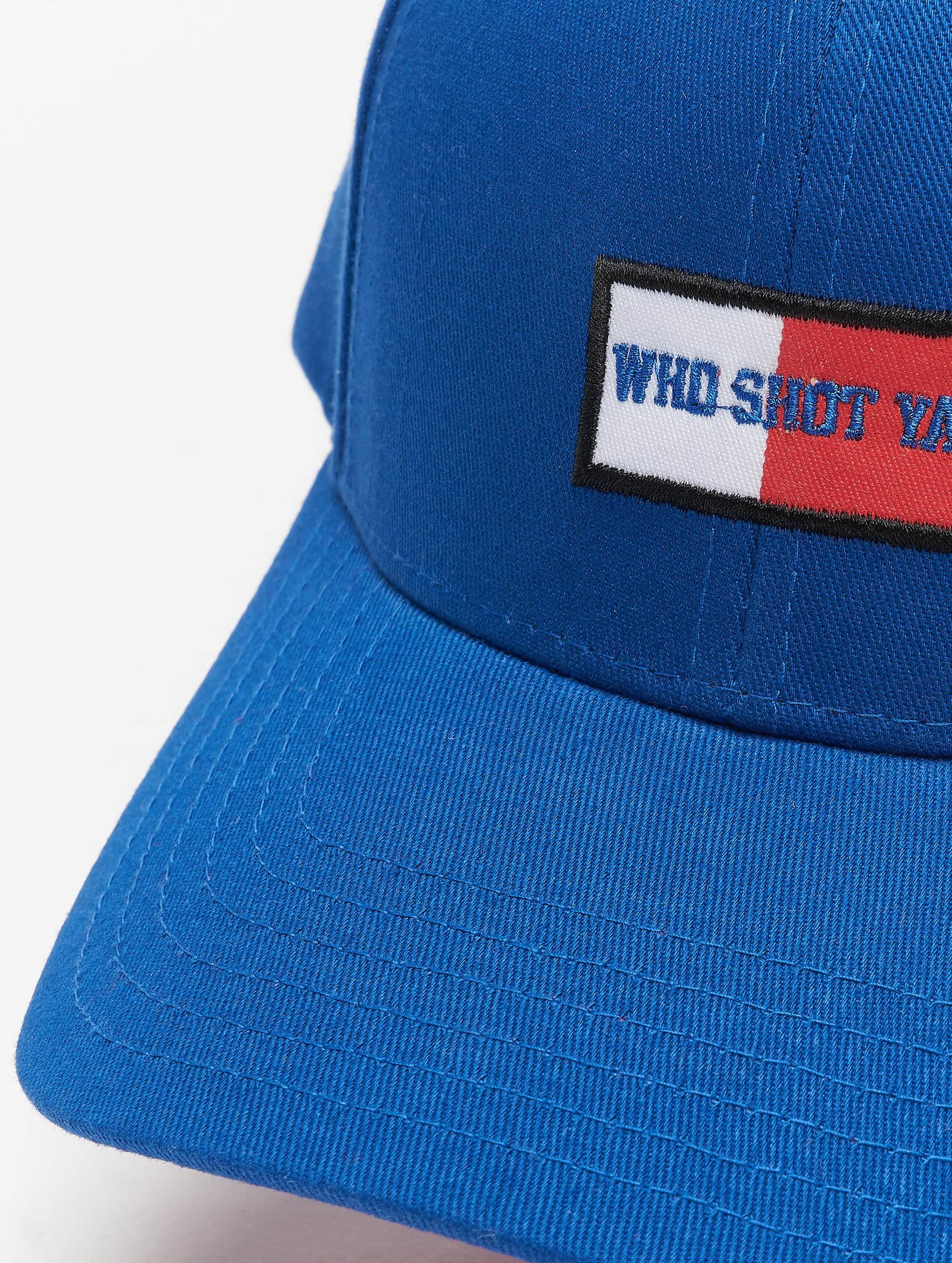 Who Shot Ya? Snapback Cap Daddy Fit blue