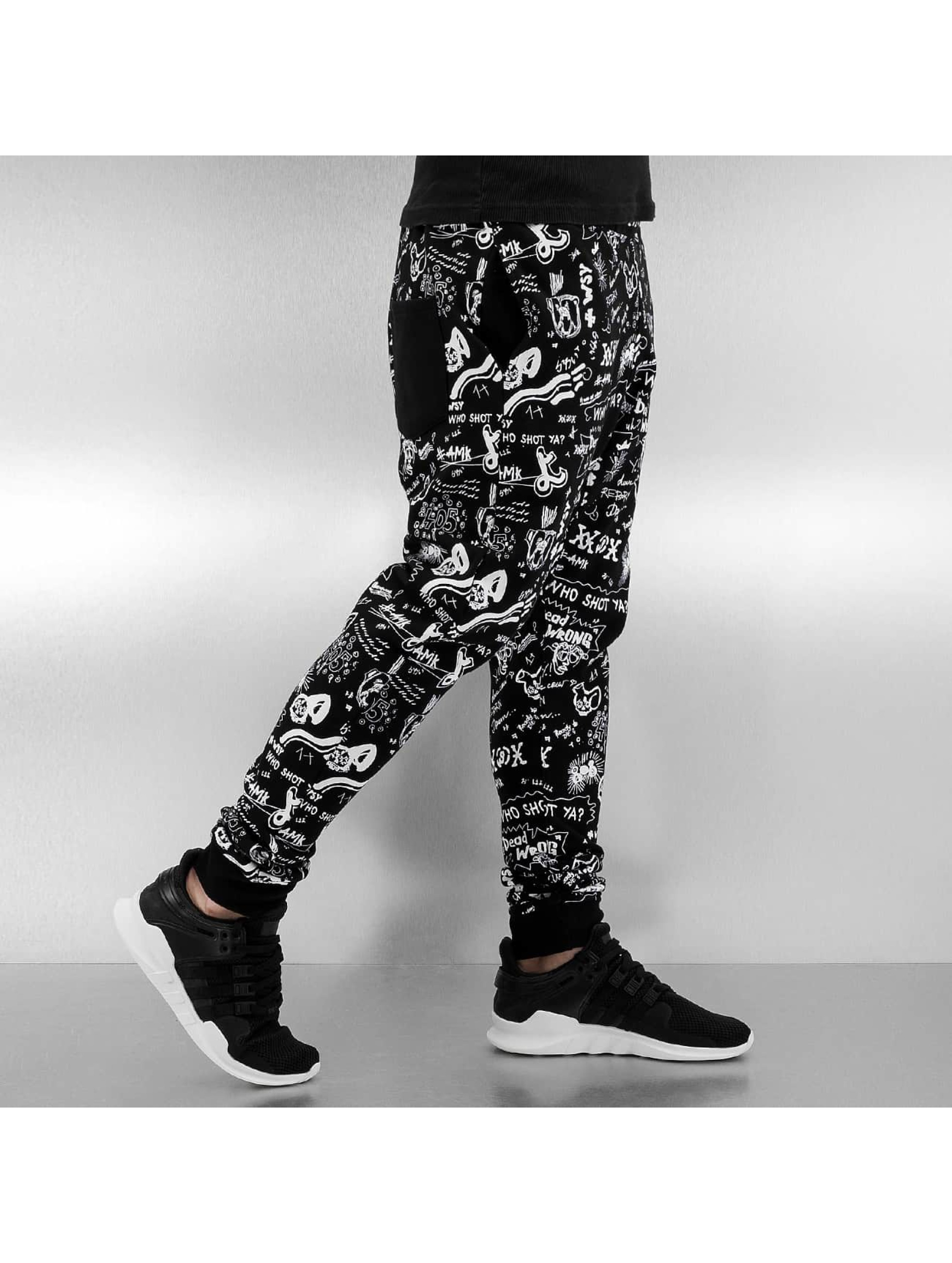 Who Shot Ya? Sweat Pant Draw 1 black