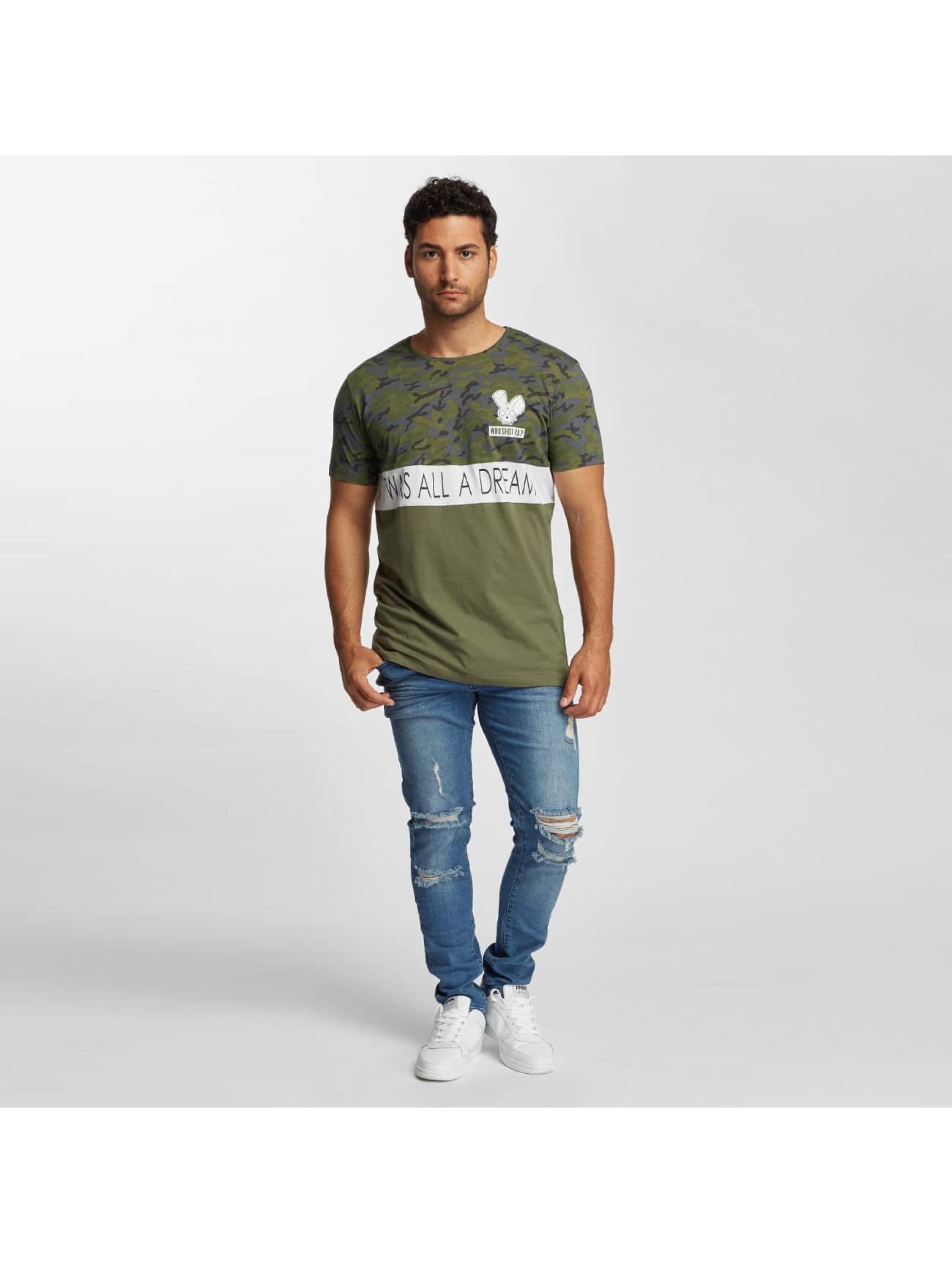 Who Shot Ya? T-Shirt Wonderful olive
