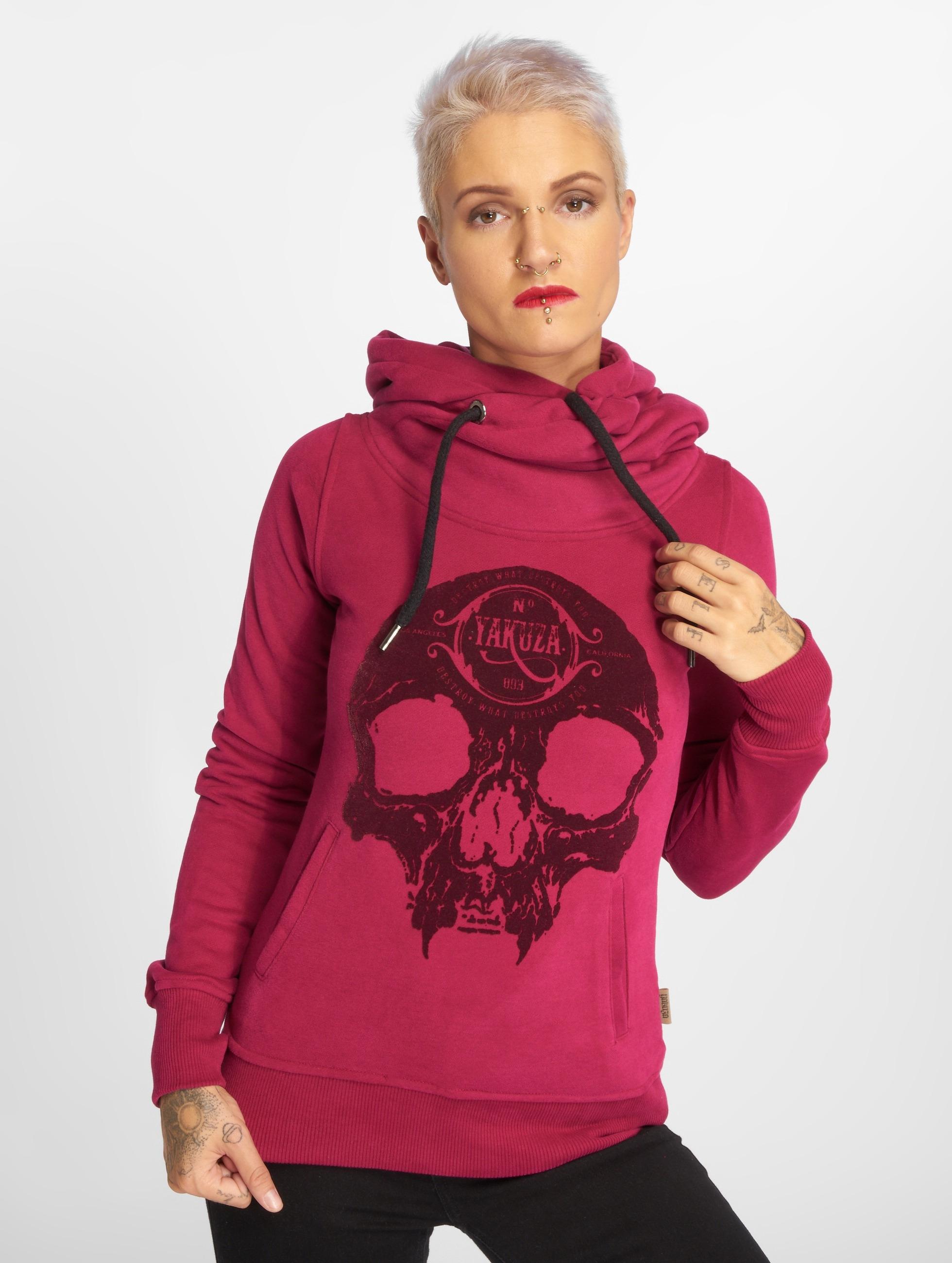 Yakuza Hoodie Velvet Skull II red